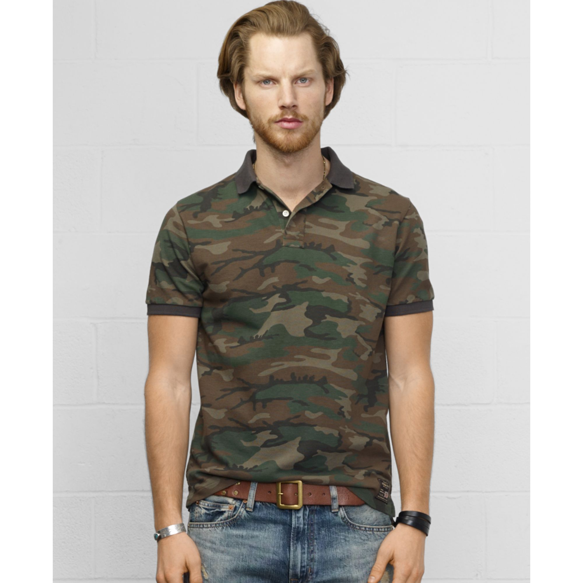 Denim Amp Supply Ralph Lauren Camouflage Polo In Green For
