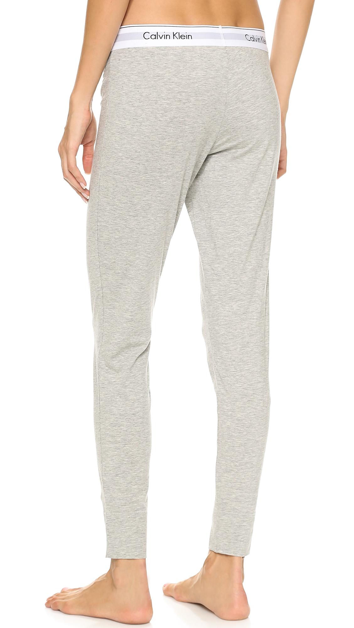 Lyst - Calvin Klein Modern Cotton Pants Grey Heather in Gray c08c356d2