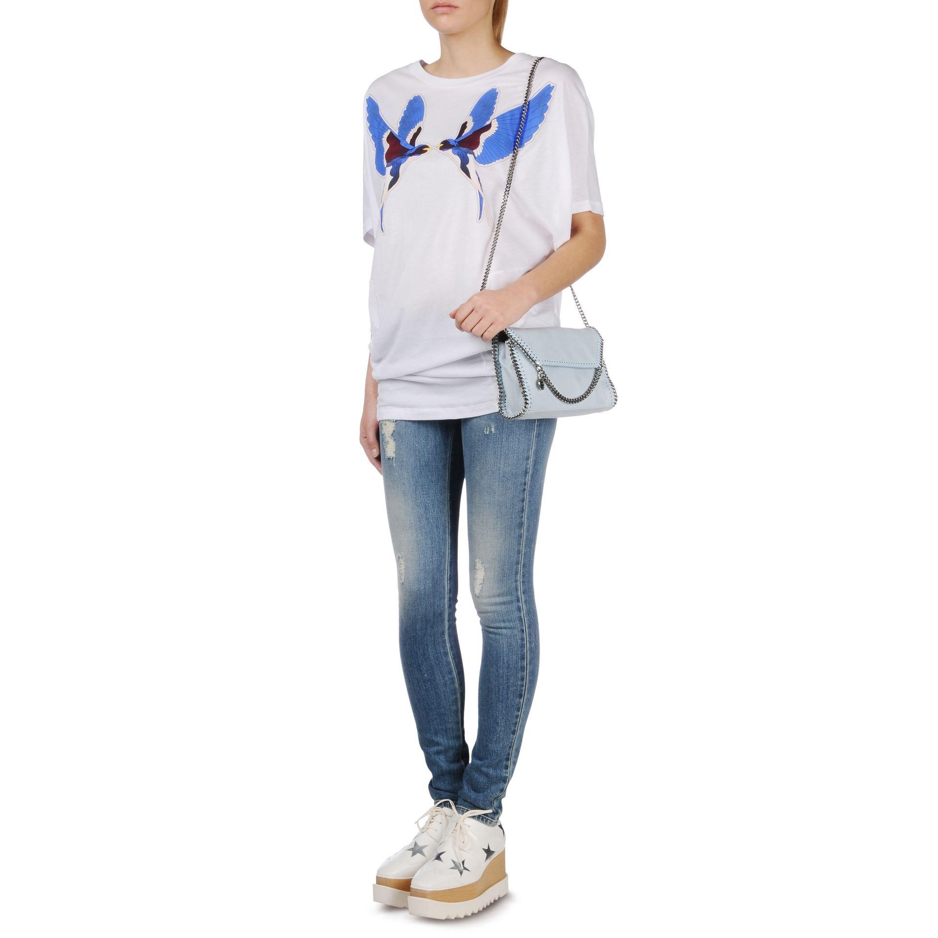 b11ea91245ac Lyst - Stella McCartney Falabella Shaggy Deer Mini Bag in Blue