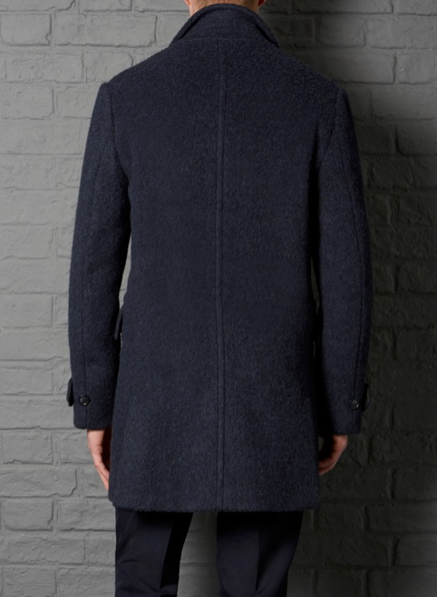 Farrell Slim Fit Airforce Blue Car Coat in Blue for Men | Lyst
