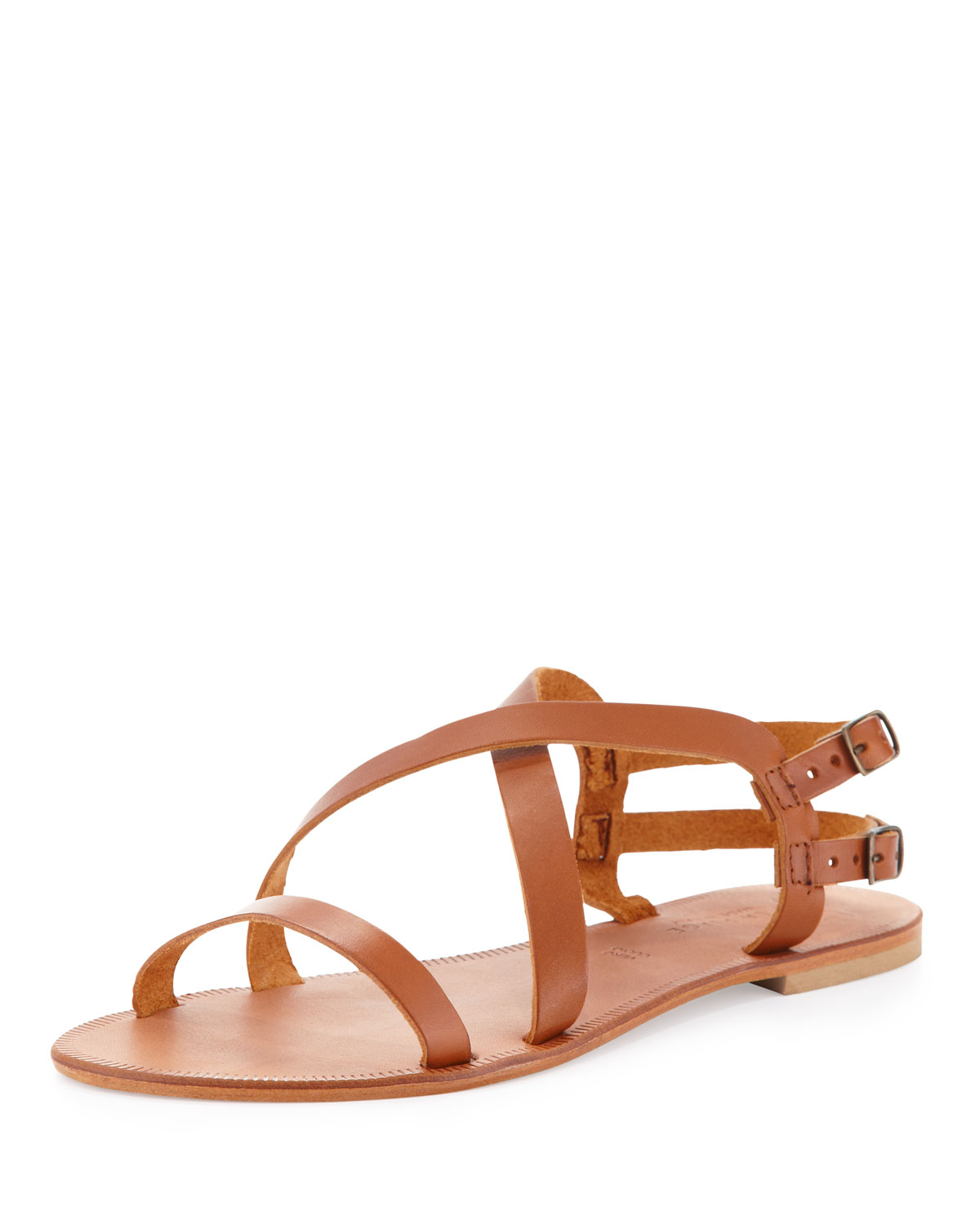 Joie Socoa Strappy Leather Sandal In Brown Lyst