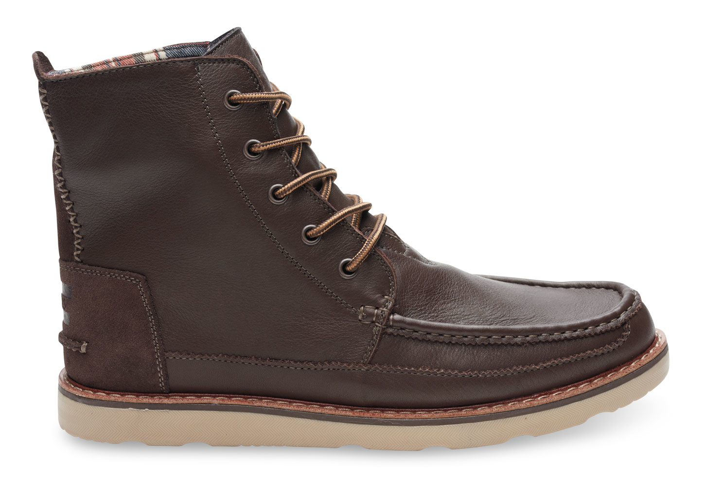 Toms Chocolate Brown Full Grain Leather Men's Searcher Boots in ...