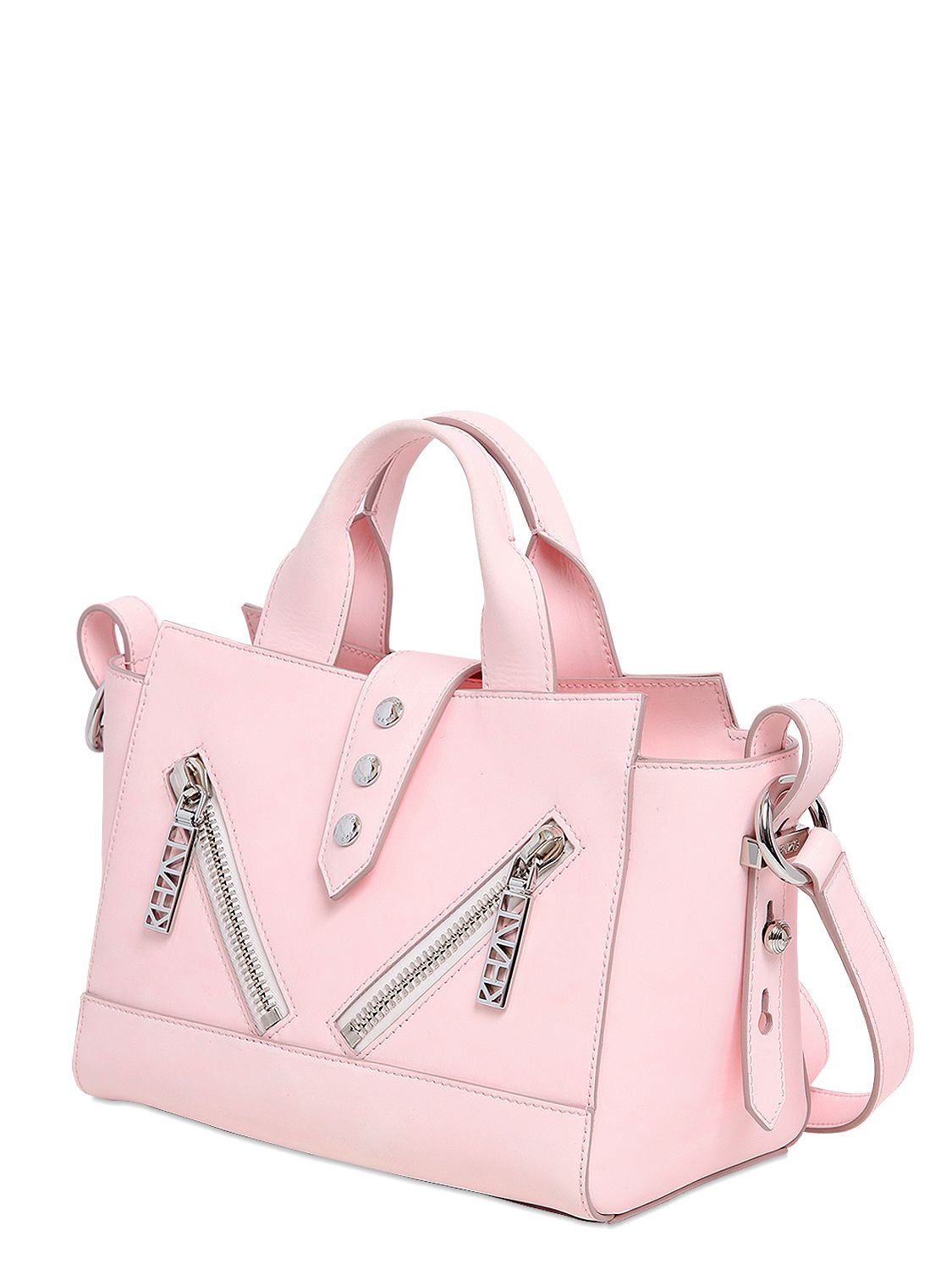 bcf03d6e2a0 Lyst - KENZO Mini Kalifornia Rubberized Leather Bag in Pink