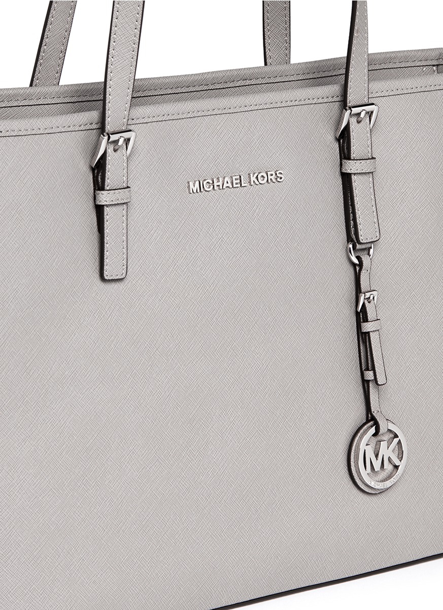 7c835012f367 Michael Kors 'jet Set Travel' Saffiano Leather Top Zip Tote in Gray ...