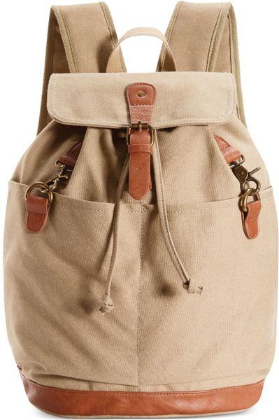 Madden Girl Bkargo Utilitarian Backpack in Beige (Khaki) - Lyst