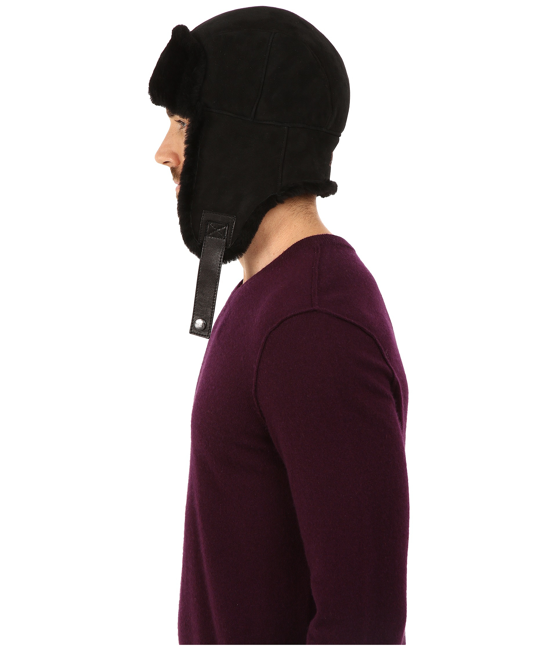 9388e559f30d9 UGG Sheepskin Trapper in Black for Men - Lyst