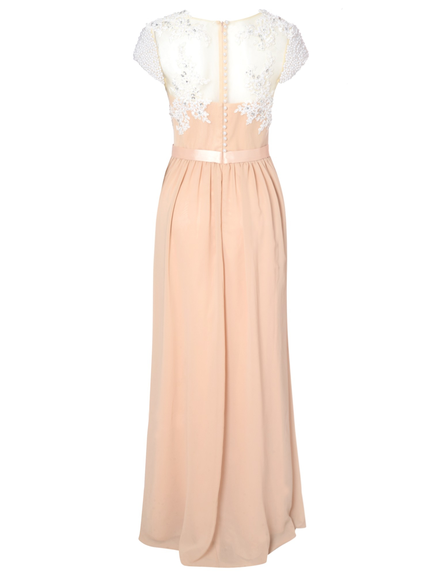 21b11fb0bad True Decadence Lace Embellished Maxi Dress in Pink - Lyst