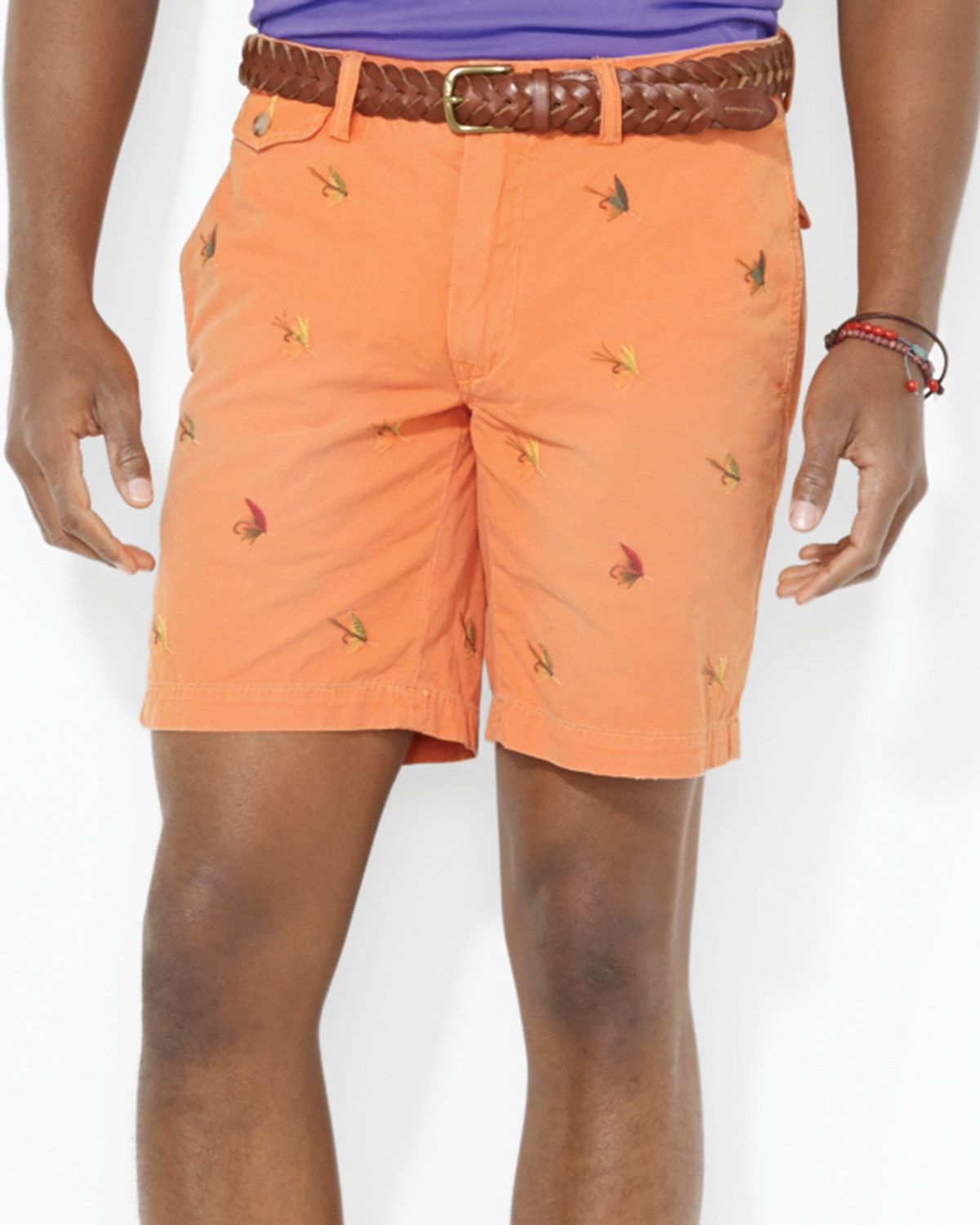 ef51f95839b Lyst - Ralph Lauren Polo Embroidered Canvas Shorts - Straight Fit in ...