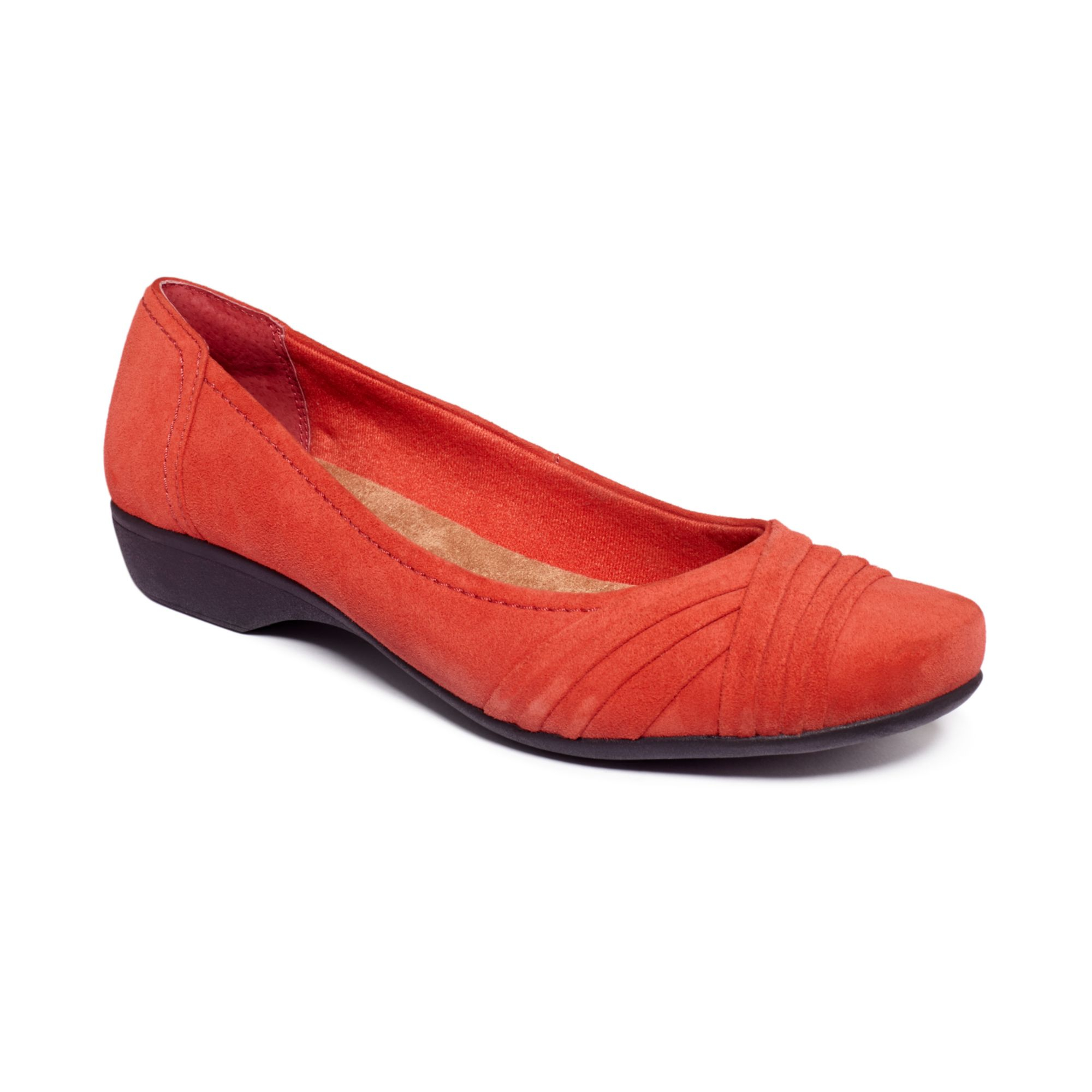 Lyst Clarks Womens Propose Pixie Flats In Red