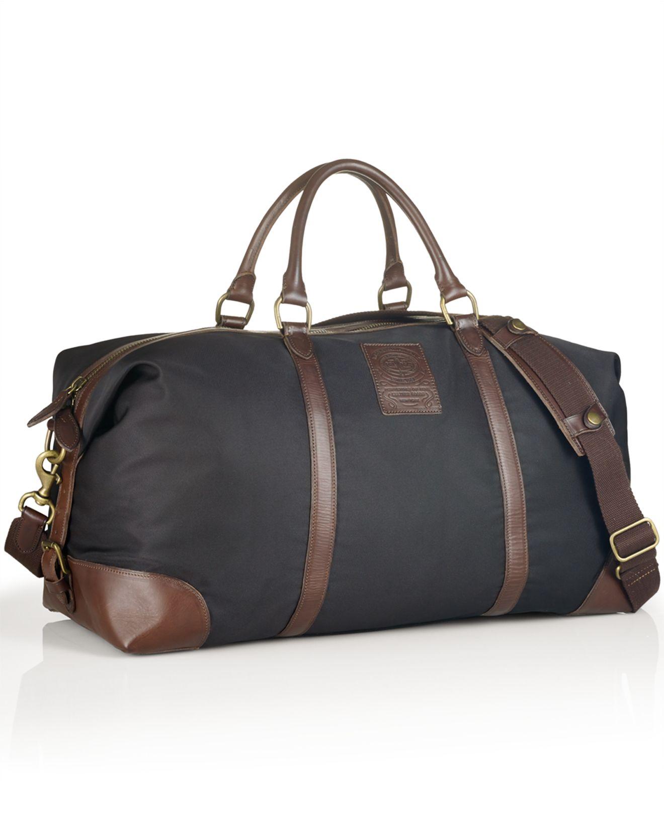 Lyst - Polo Ralph Lauren Large Nylon Duffel Bag in Black for Men dabf1ac85689e