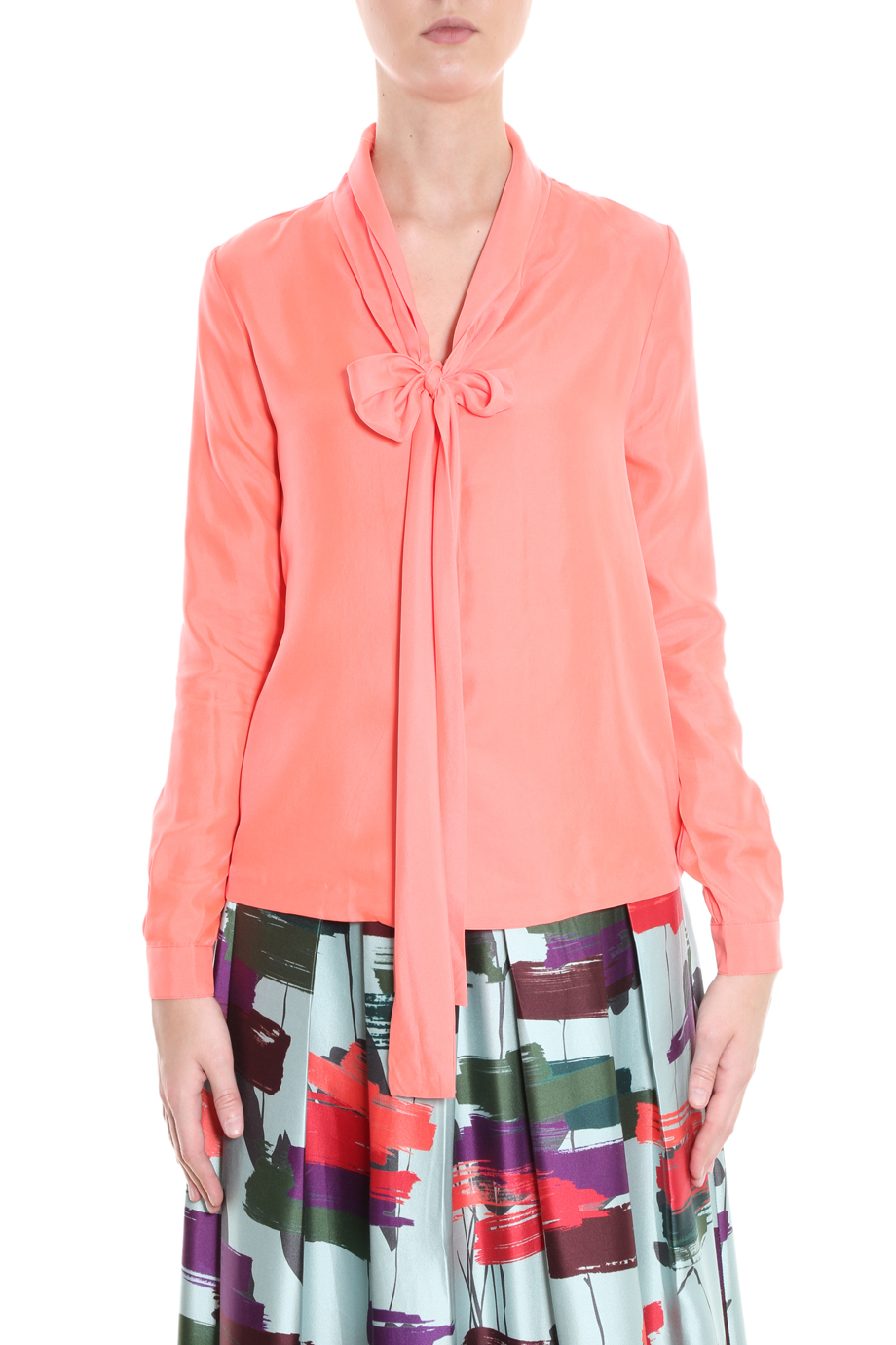 ed1a290dd17e6d Lyst - Raoul Tie Neck Blouse in Pink