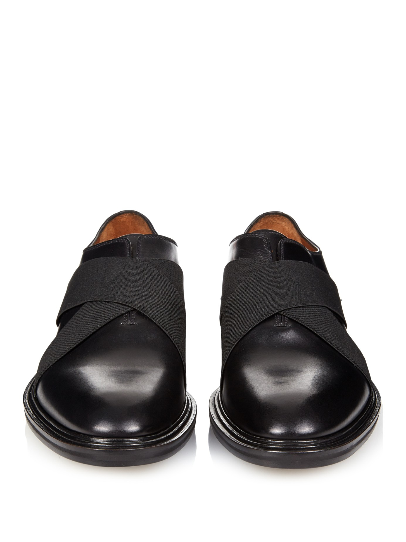 Lyst Givenchy Elastic Straps Leather Derby Shoes In