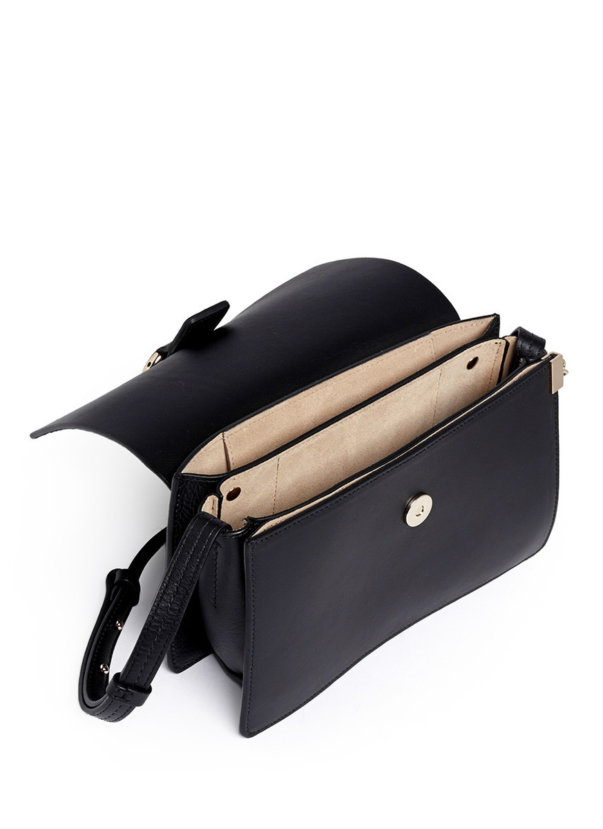 Chloé Faye Mini Bag Black in Black | Lyst