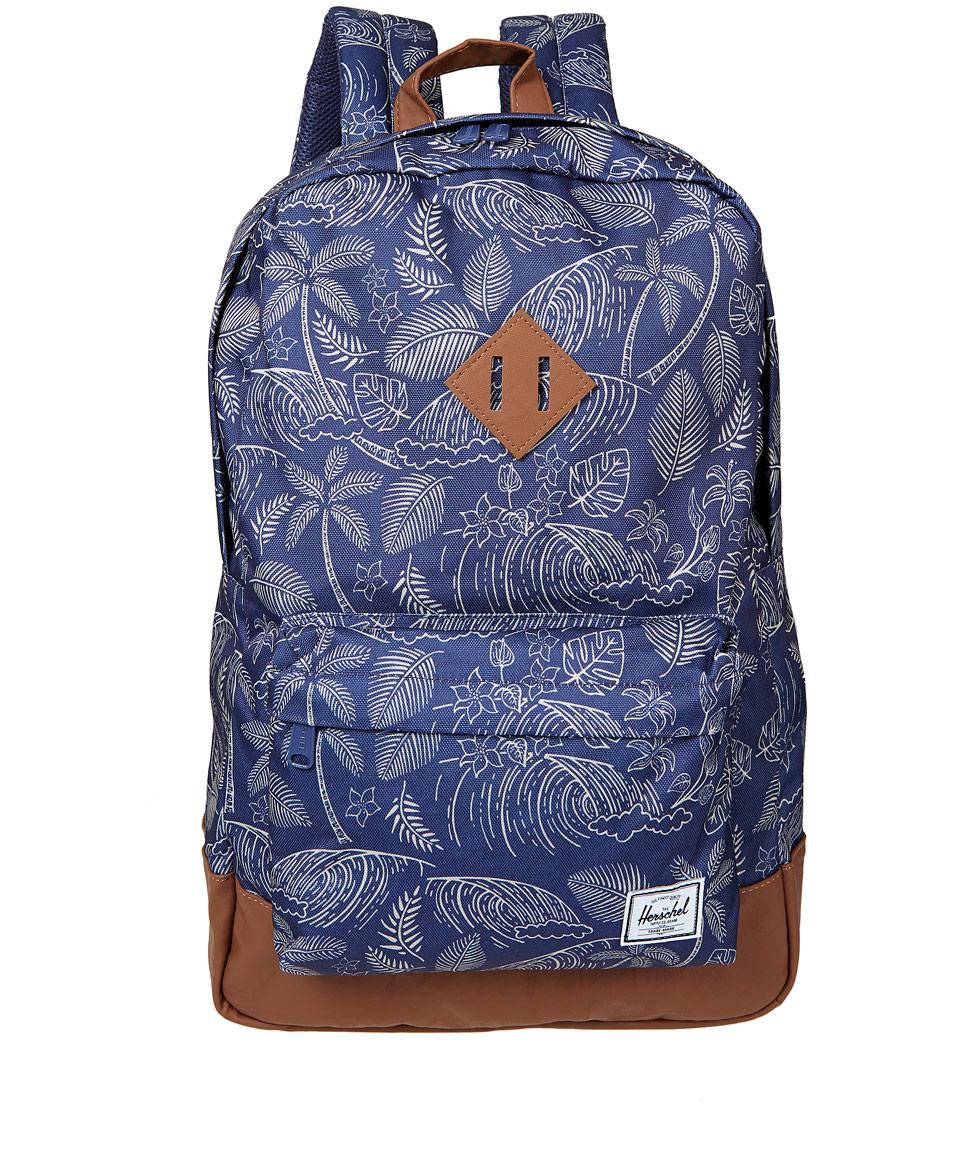 Herschel Supply Co. Blue Heritage Floral Print Backpack in Blue for ... 0d5b67efed