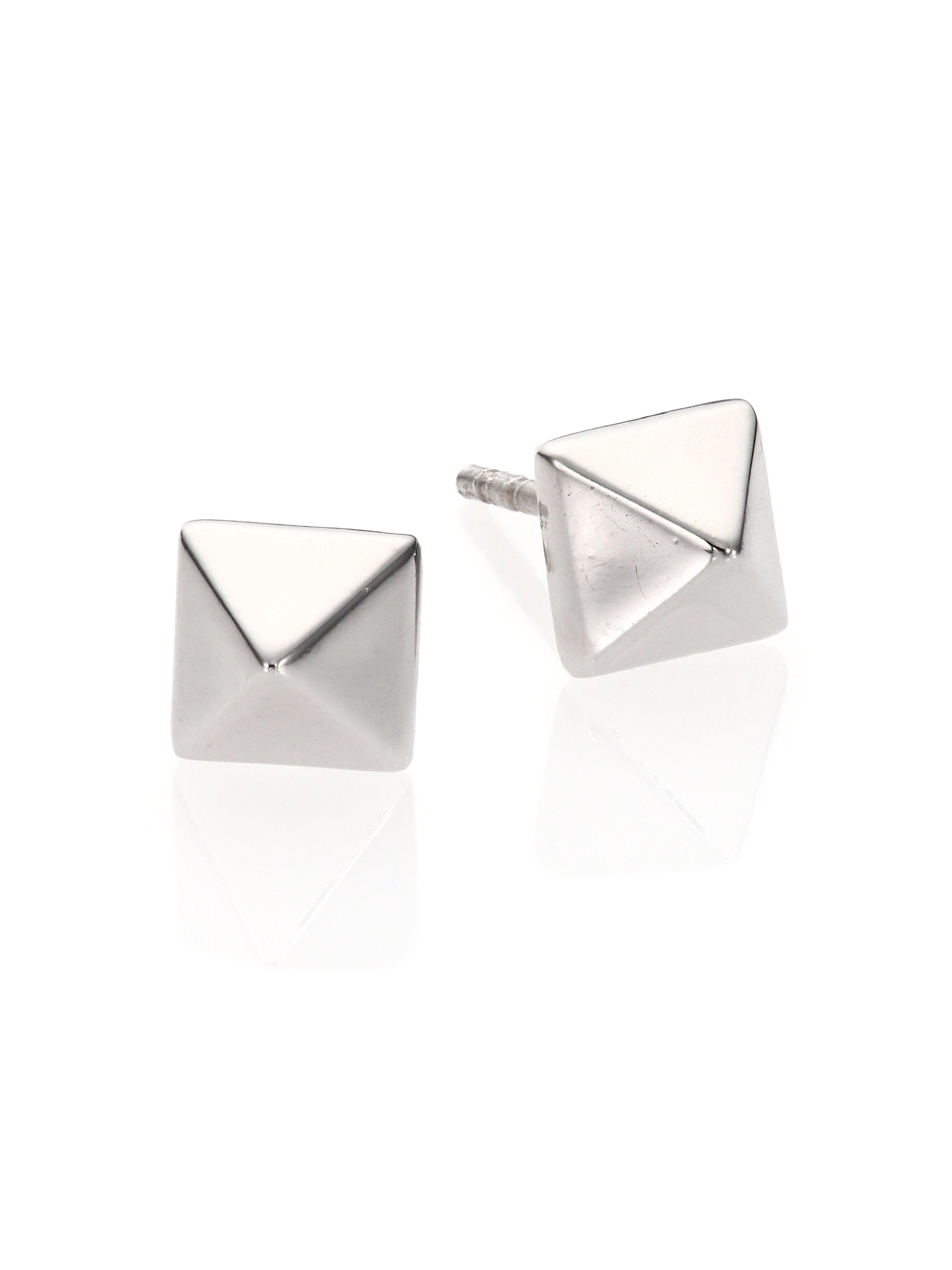 products dotter silver untitled pyramid stud