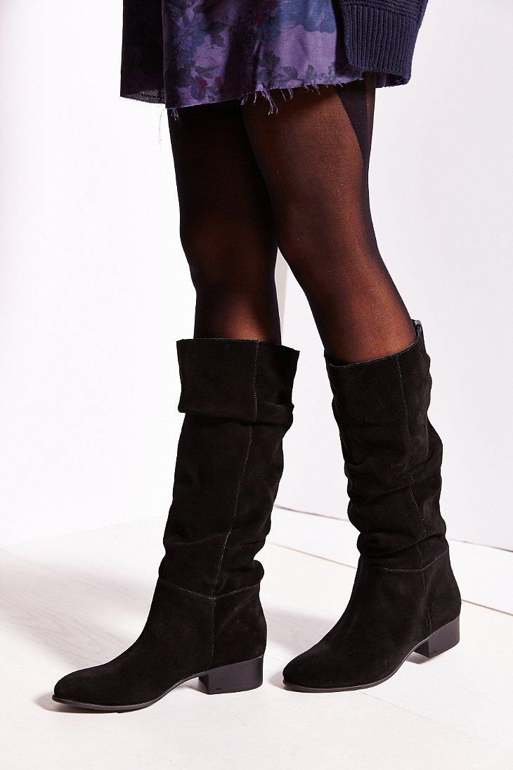 9ea8ceffc6e Lyst - Steve Madden Pondrosa Suede Tall Boot in Black