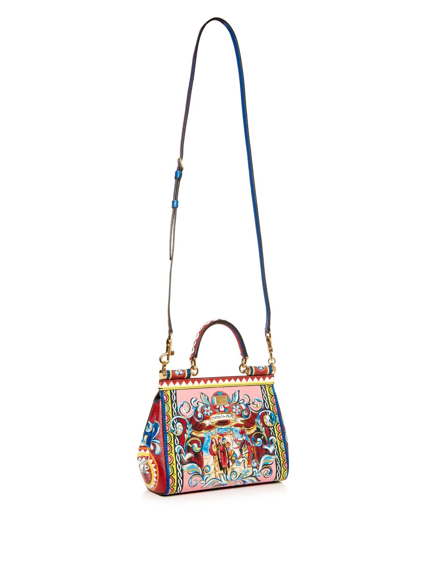 Dolce & Gabbana Imprimé Sicile Petit Sac À Bandoulière En Cuir L'arrivée De Nouveaux Prix Pas Cher Réel Frais De Port Offerts Pas Cher Combien En Ligne 4bDS0oM5O