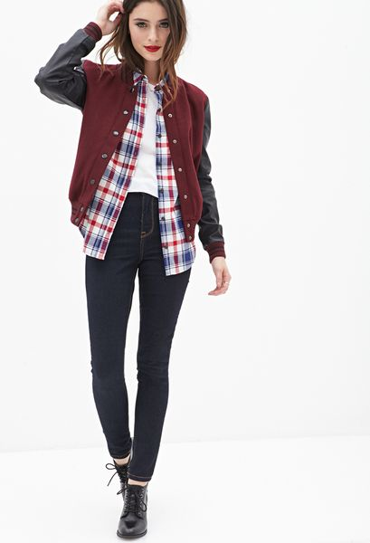 Red Leather Jacket Forever 21 Forever 21 Faux Leather