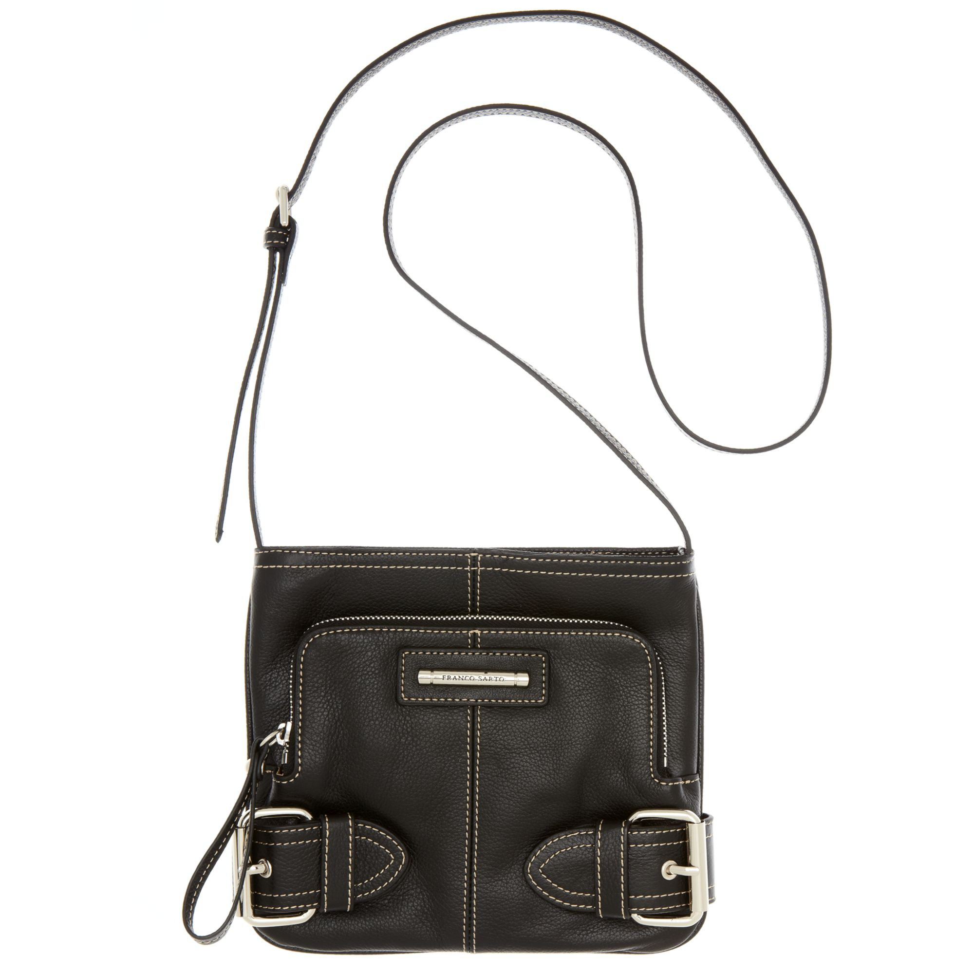 e5f59cd40975 Lyst - Franco Sarto Jolie Leather Crossbody in Black