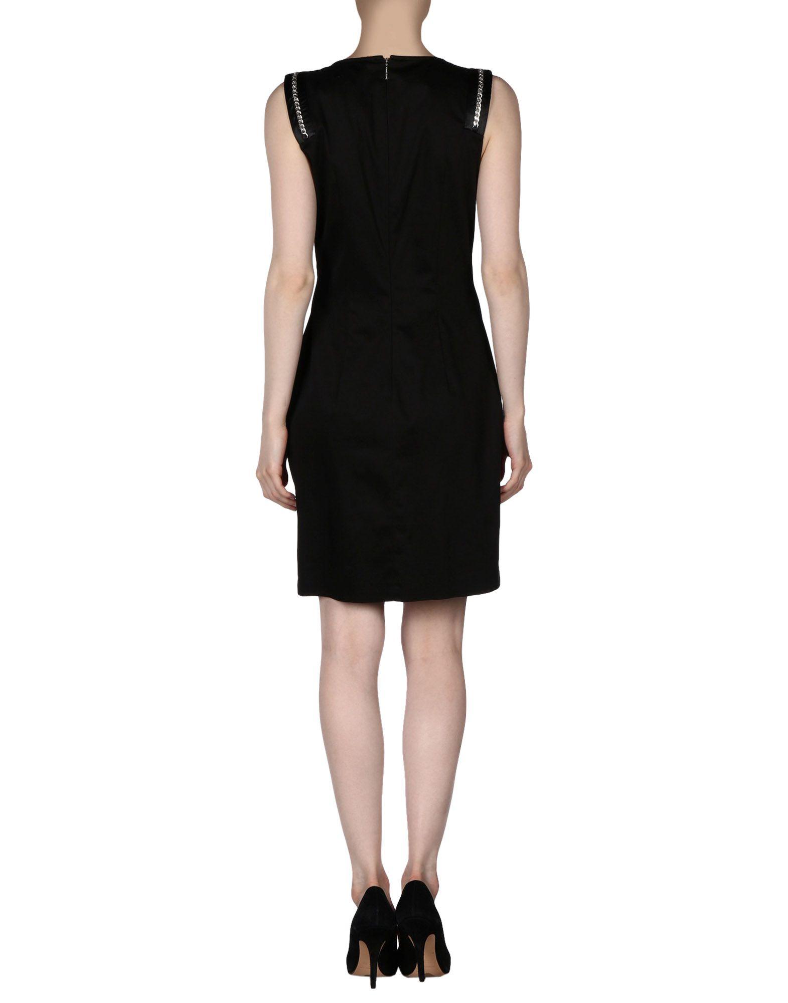 lyst versace jeans short dress in black