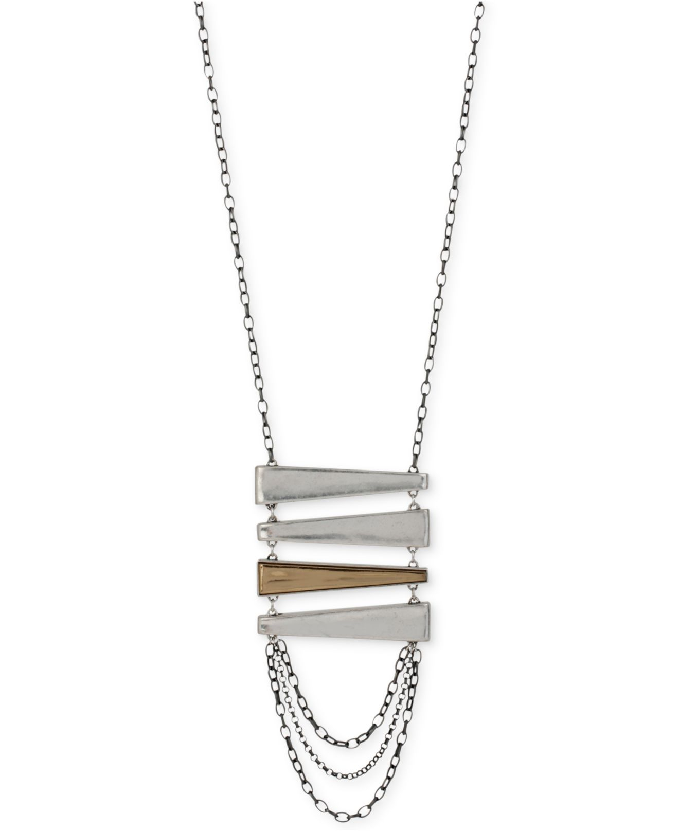 robert morris jewelry bar pendant necklace lyst robert morris bar pendant necklace in metallic