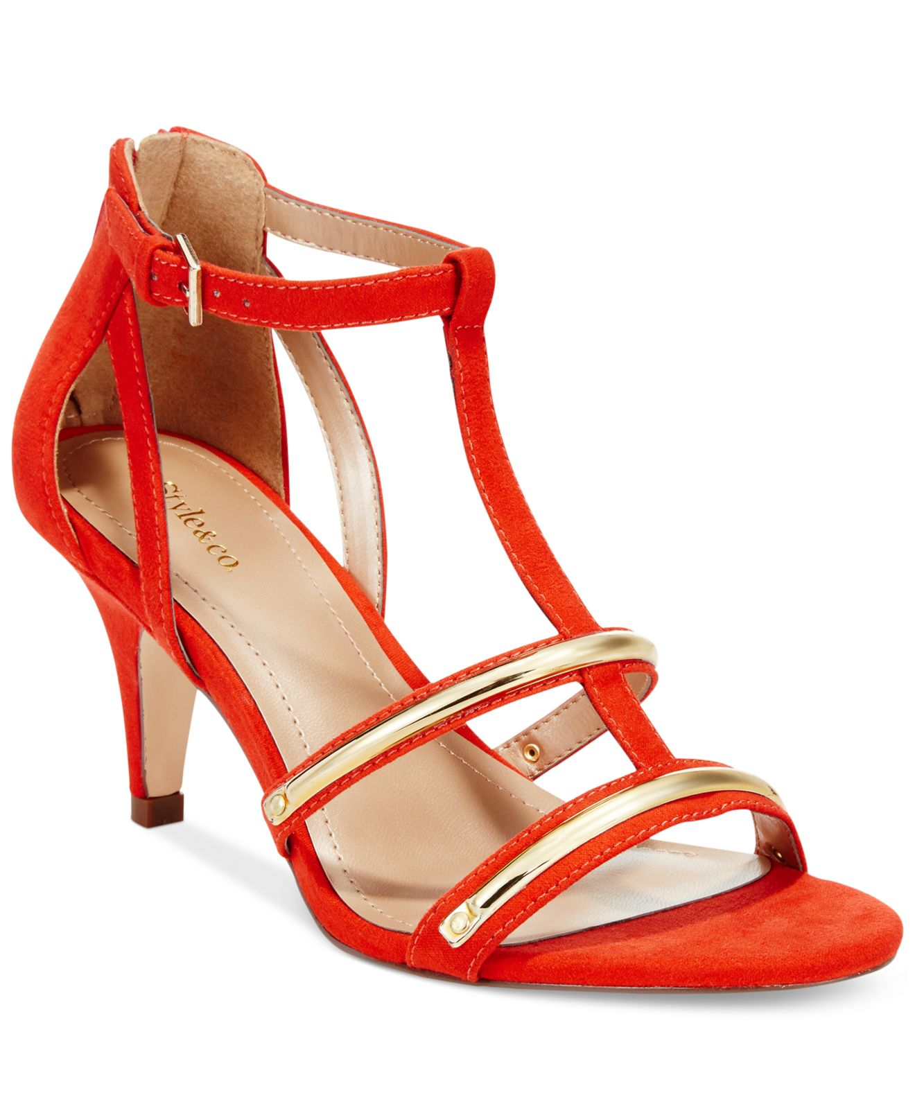 Style &amp co. Style&ampCo. Hughley Dress Sandals in Pink  Lyst