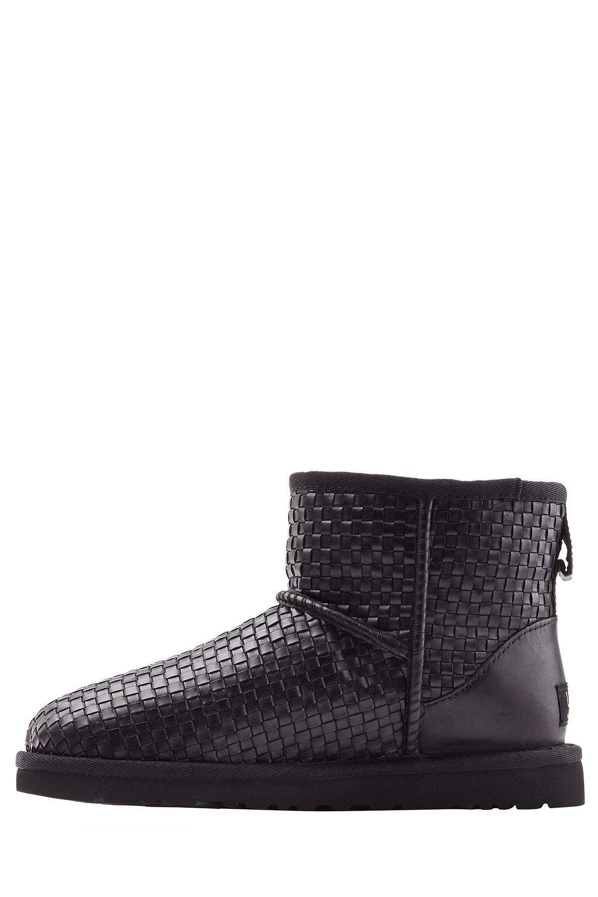 lyst ugg classic mini woven boots black in black rh lyst com