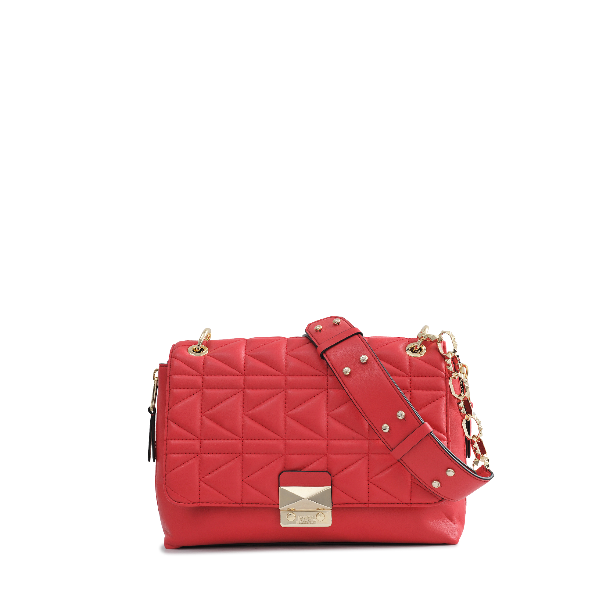 Karl lagerfeld Kuilted Flap Bag in Red  5f41c1cab0768