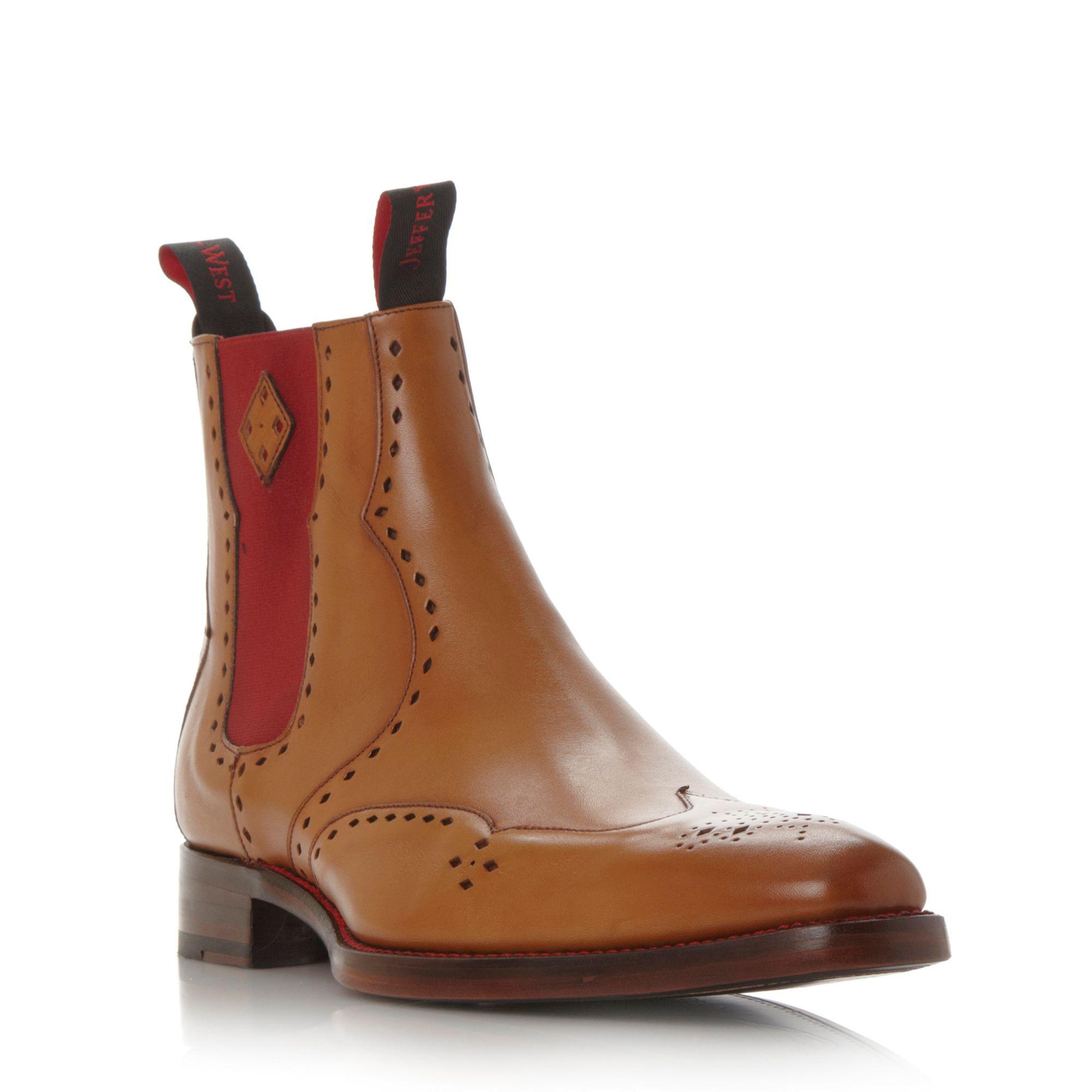 jeffery west novikov formal boots in brown for lyst
