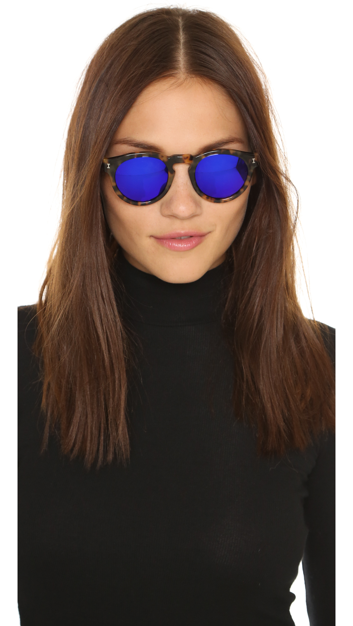 Illesteva Leonard Mirrored Sunglasses In Purple Lyst