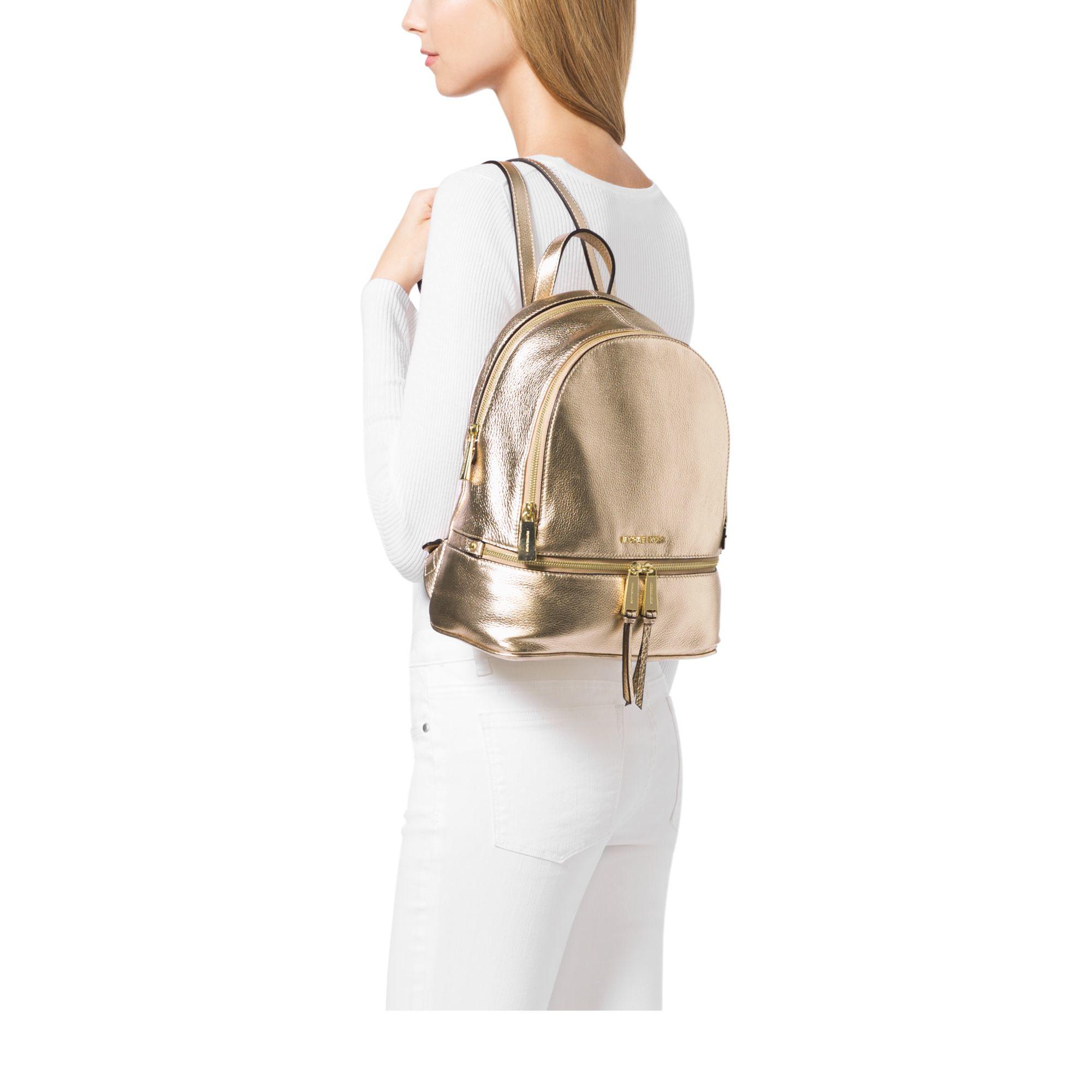 c6a95053b5f0 michael kors backpacks medium black and gold bag