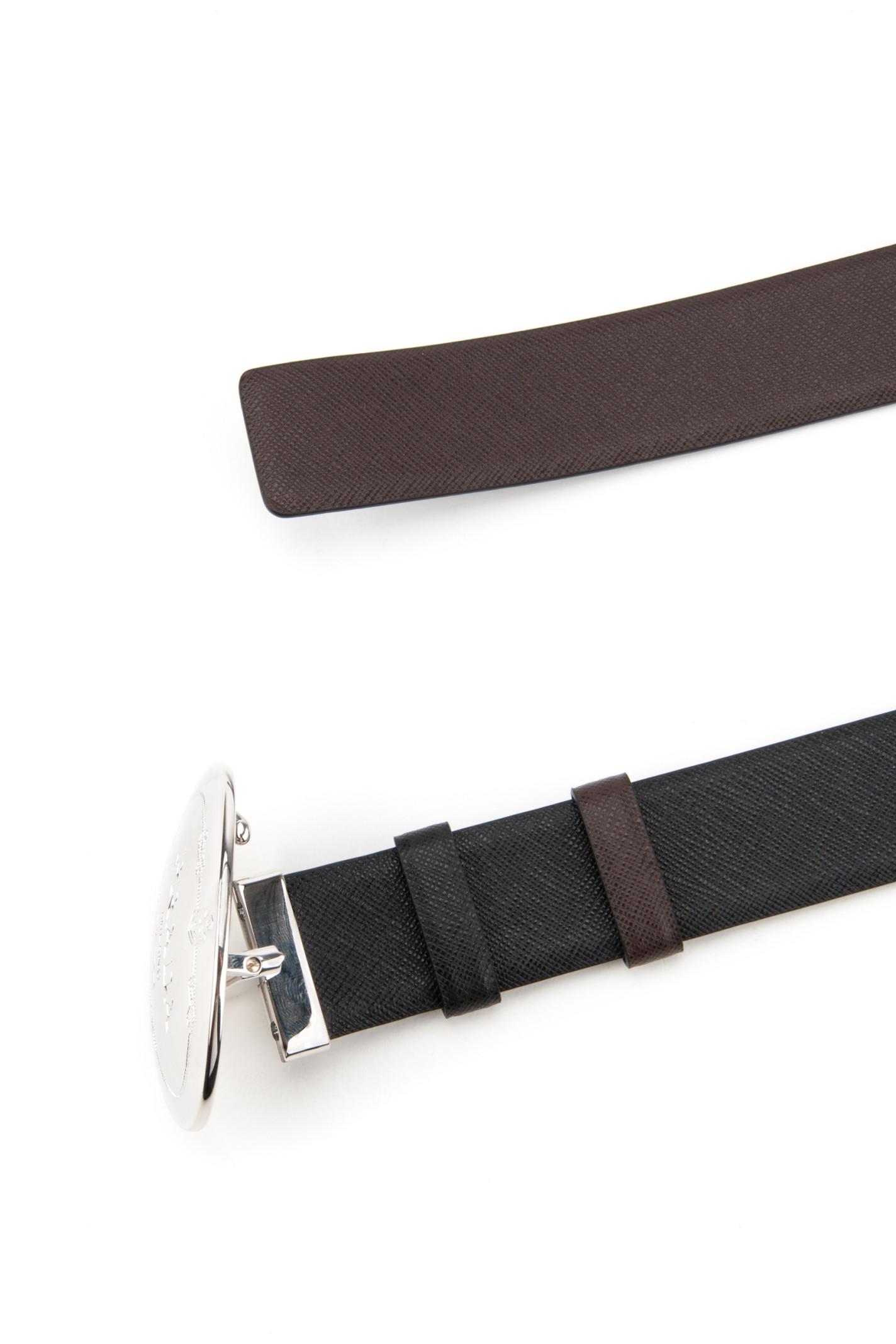 prada small bag nylon - Prada Saffiano Belt in Black for Men (NERO+CAFF��) | Lyst