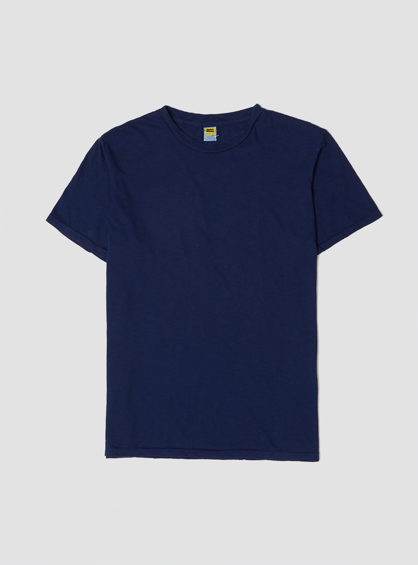 velva sheen rolled regular t shirt navy in blue for men lyst