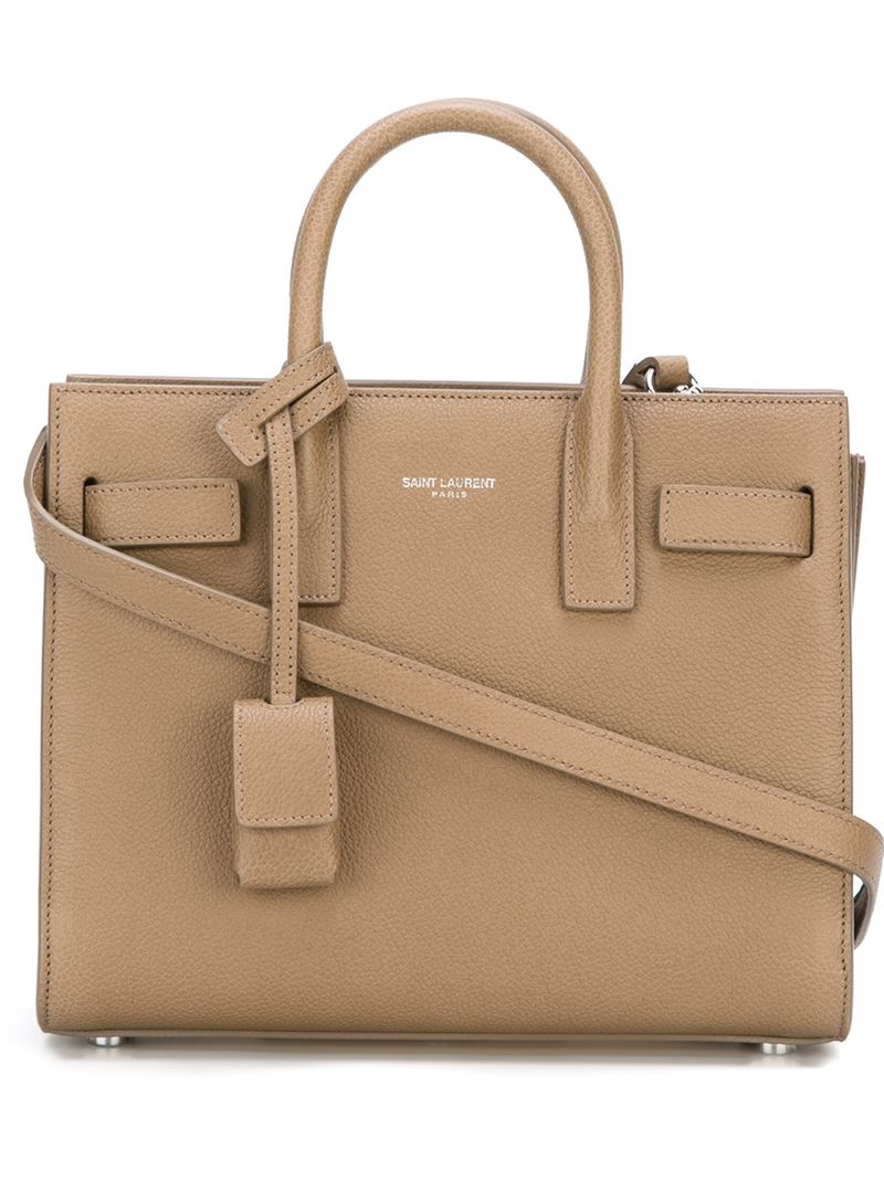 a857b8f91fe6 Saint Laurent Nano  Sac De Jour  Tote in Natural - Lyst
