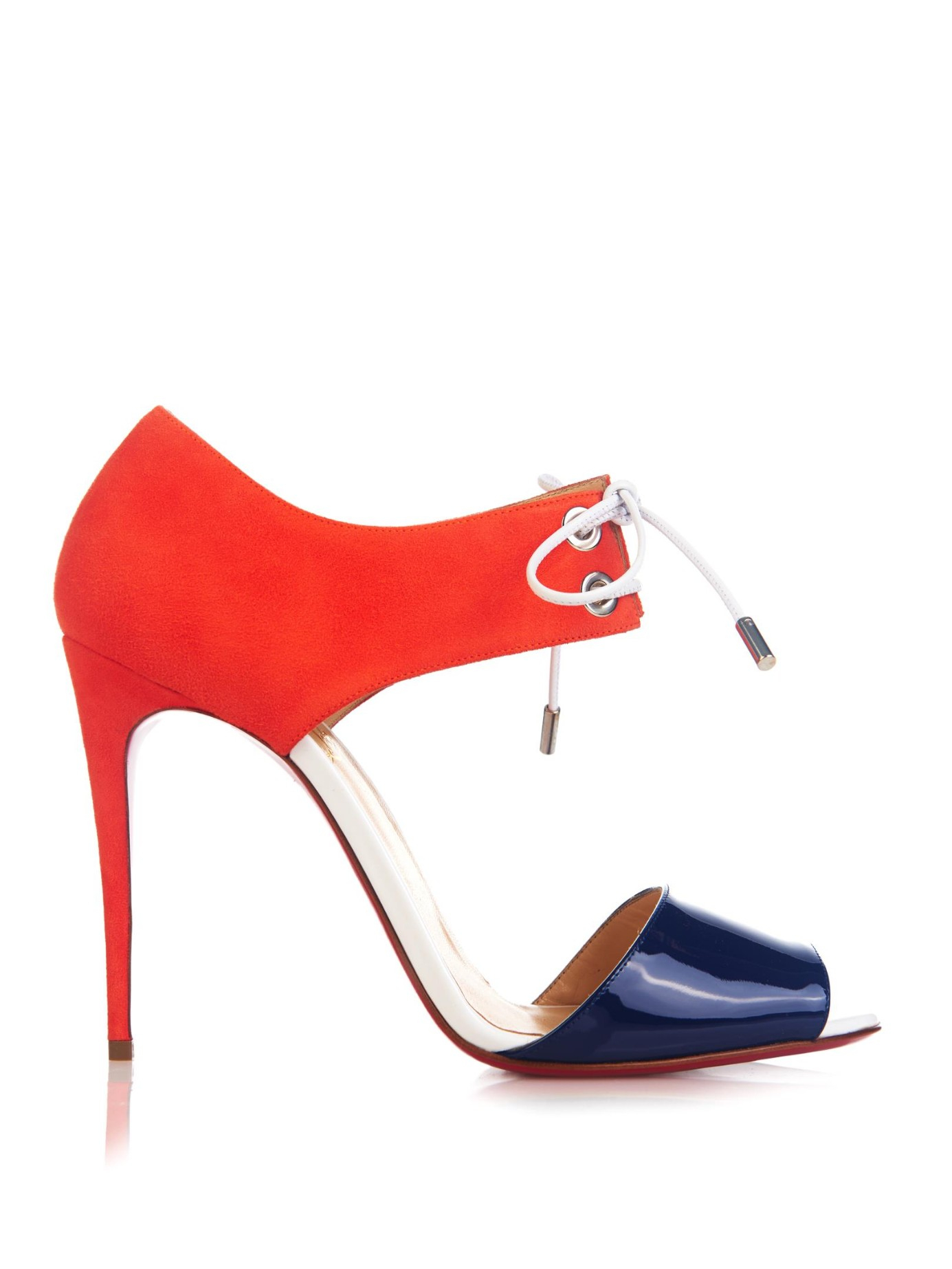 1e8a7a021269f7 Lyst - Christian Louboutin Mayerling Patent Leather and Suede ...