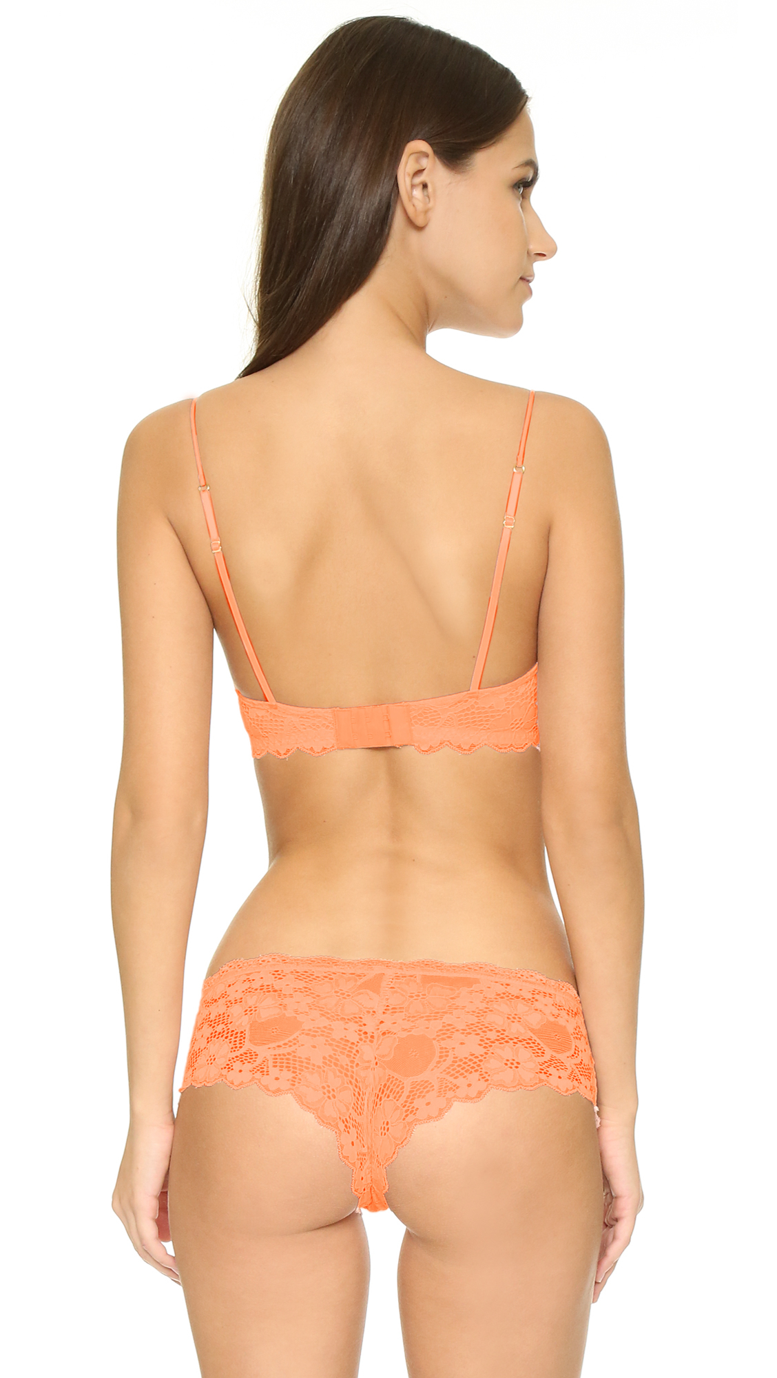06717dcc306f1 Honeydew Intimates A Getaway Camellia Lace Bralette in Orange - Lyst