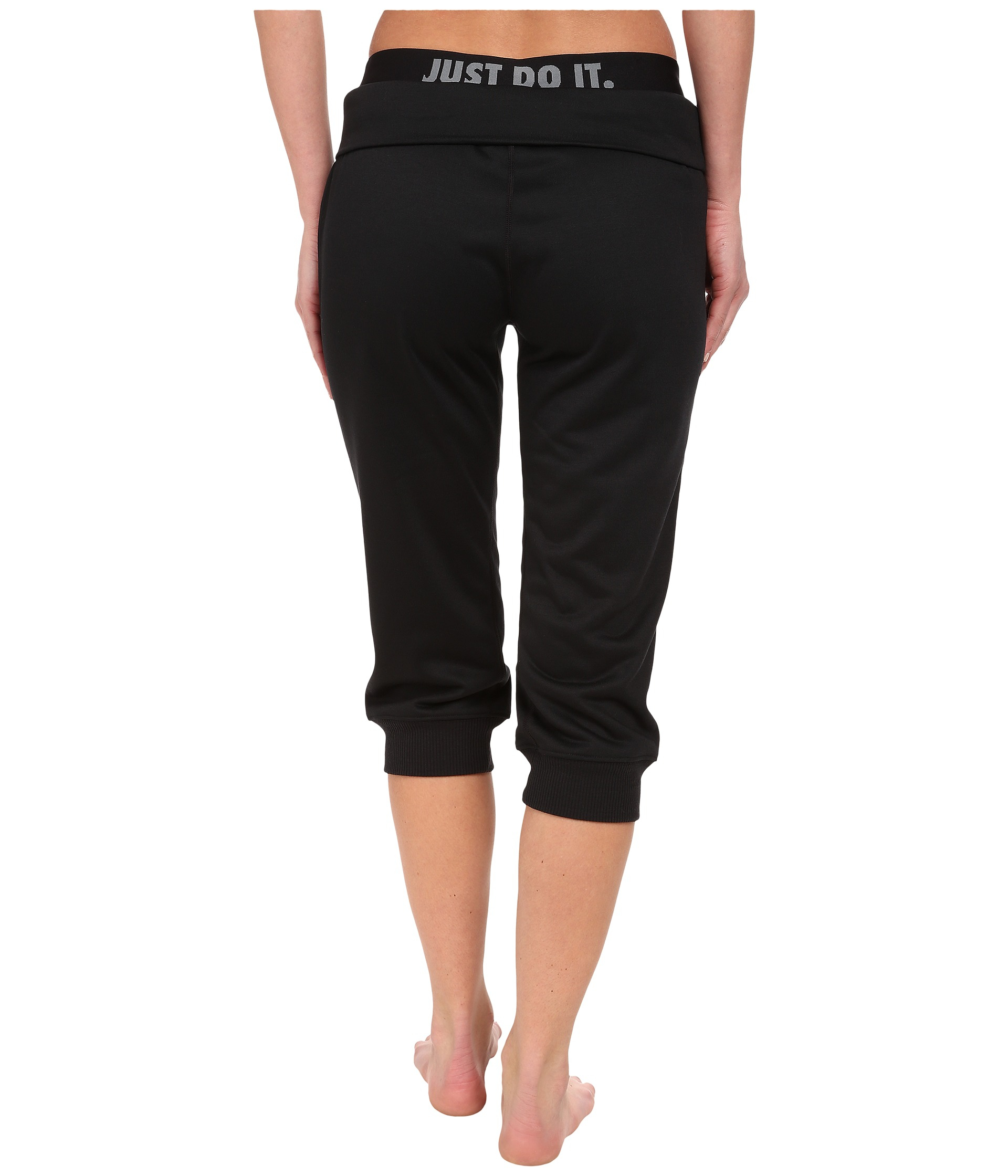 Nike Obsessed French Terry Capri in Black | Lyst