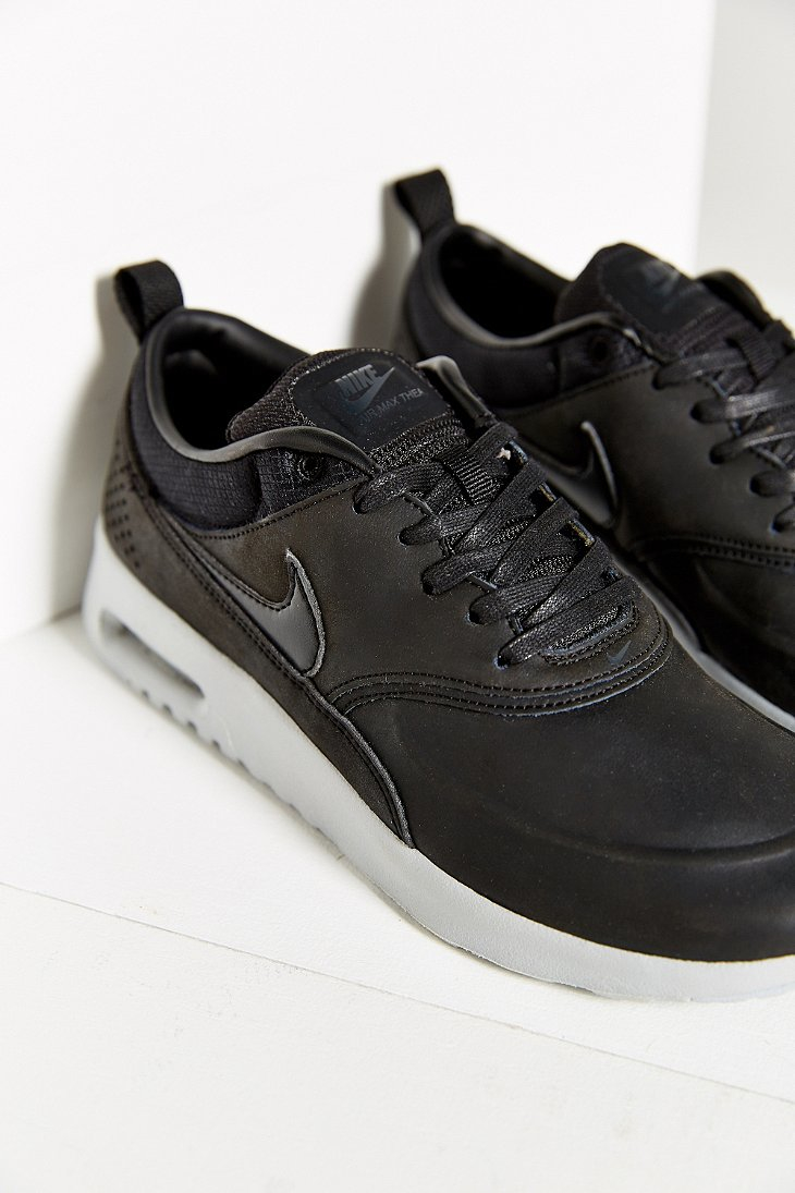 lyst nike air max thea premium sneaker in black. Black Bedroom Furniture Sets. Home Design Ideas