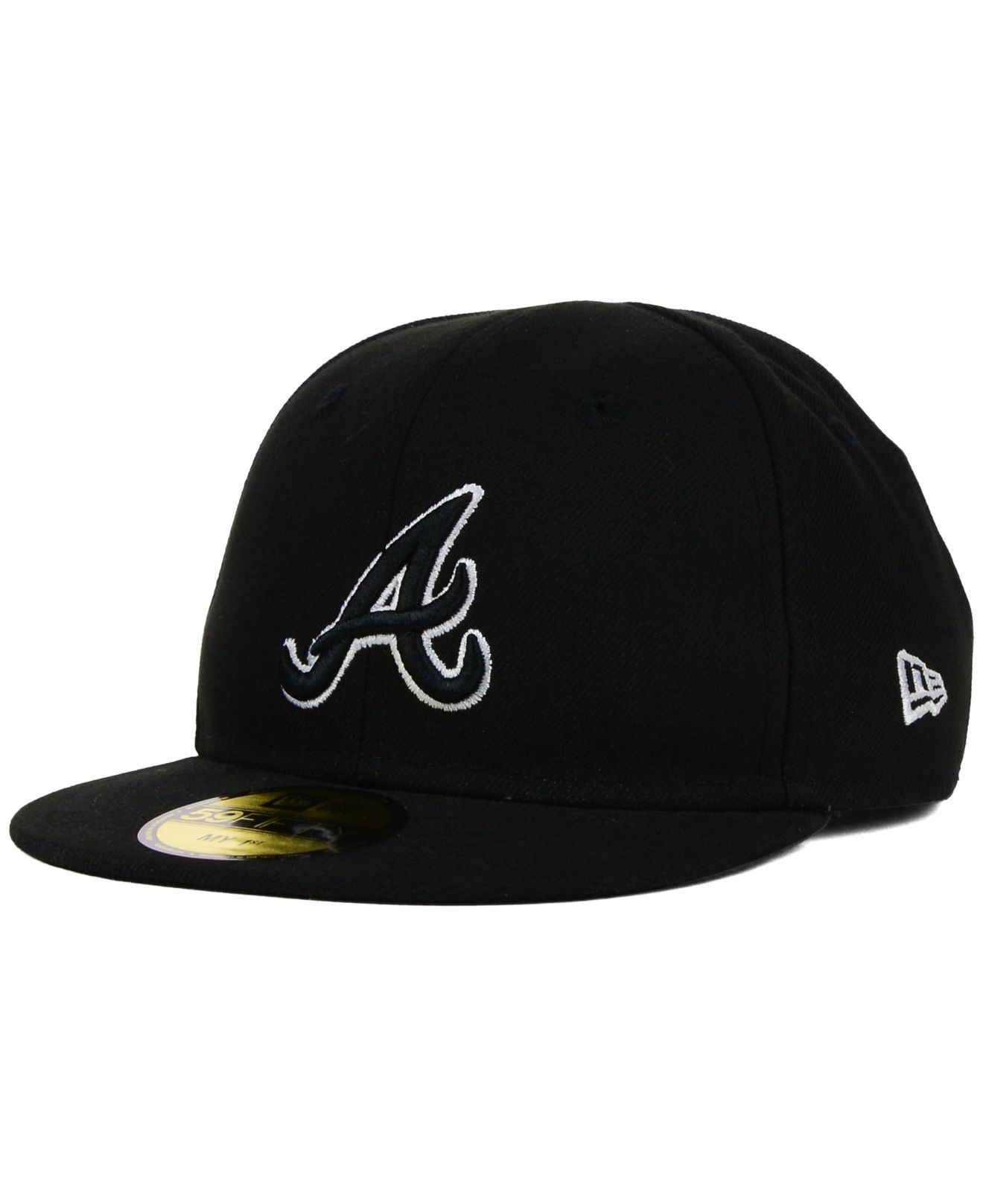 the latest 6039d 0cadc KTZ Kids  Atlanta Braves Black And White 59fifty Cap in Black - Lyst