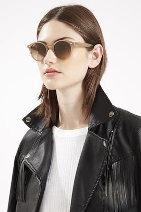 4edb401655 Ray-ban Rb2180 Round Framed Sunglasses Brown