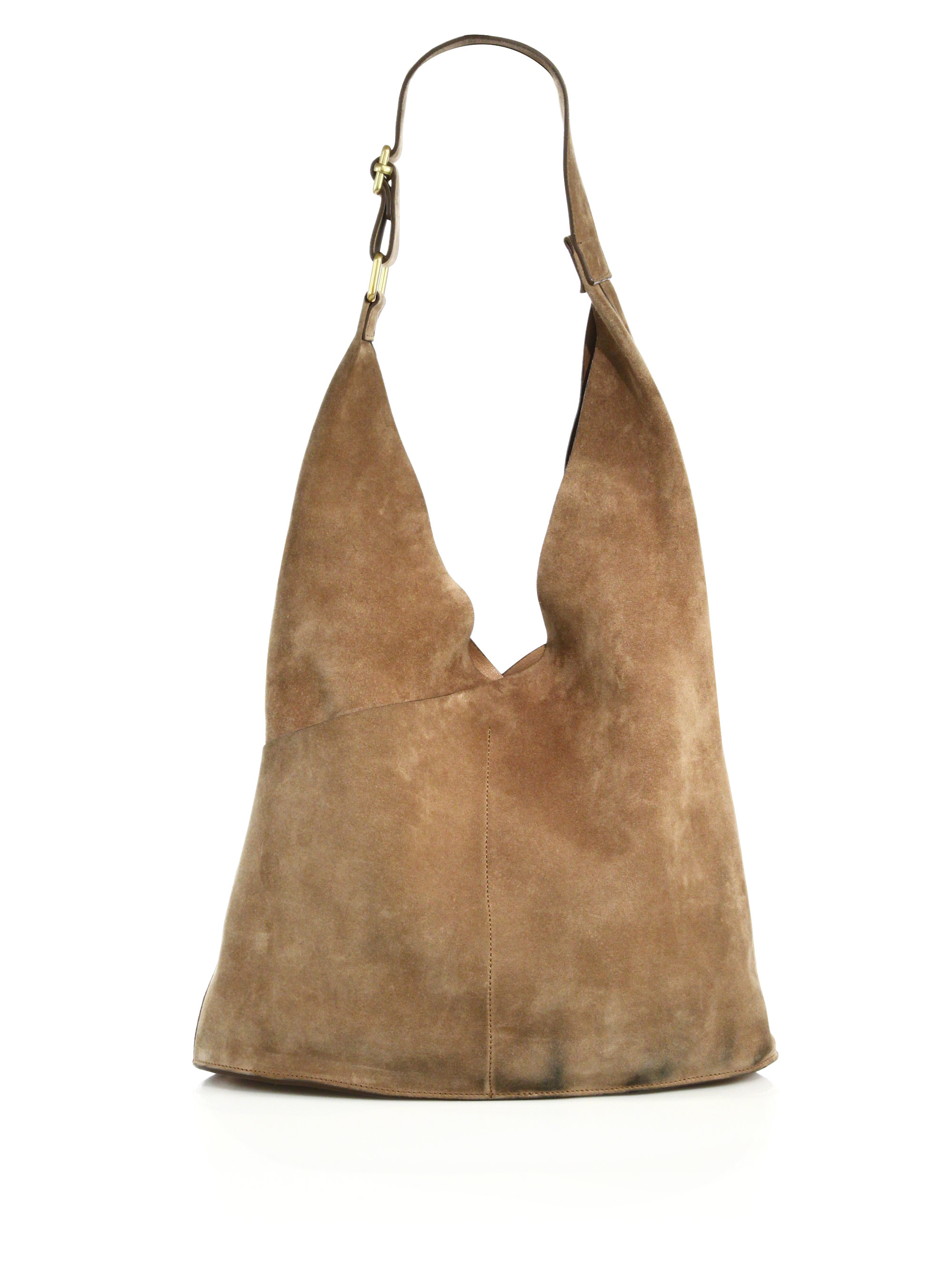 A.l.c. Sadie Suede Hobo Bag in Natural | Lyst