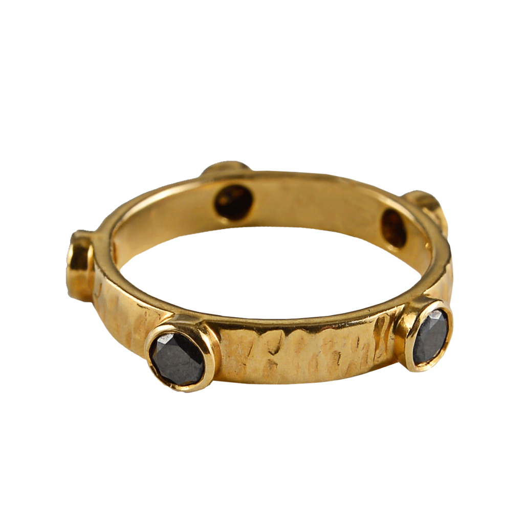 shannon green yellow gold black ring in gold lyst