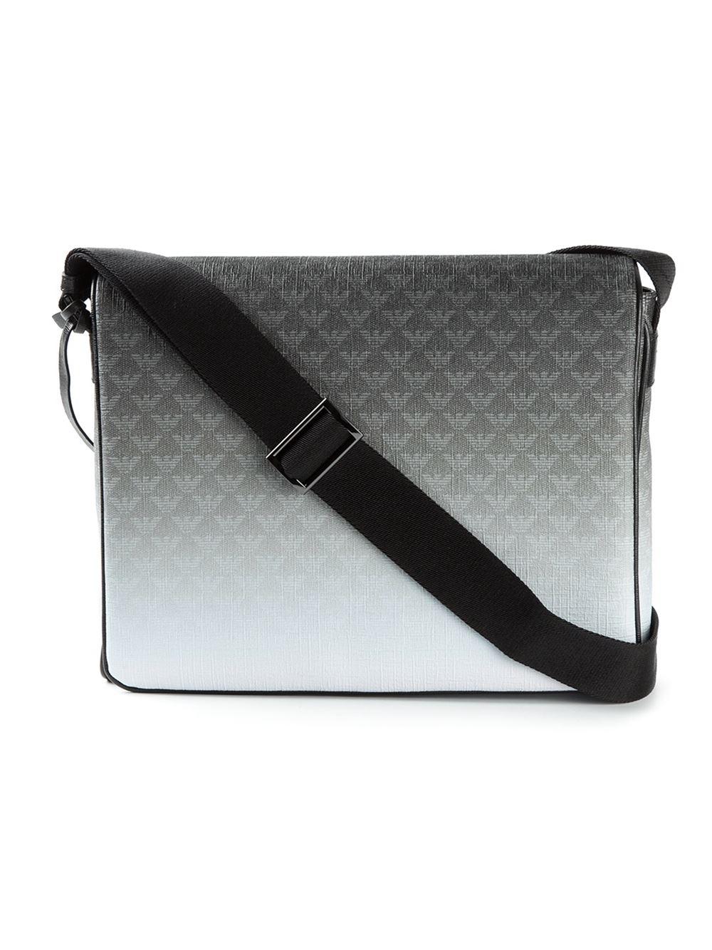 16429529b9eb Lyst - Emporio Armani Logo Print Messenger Bag in Gray for Men