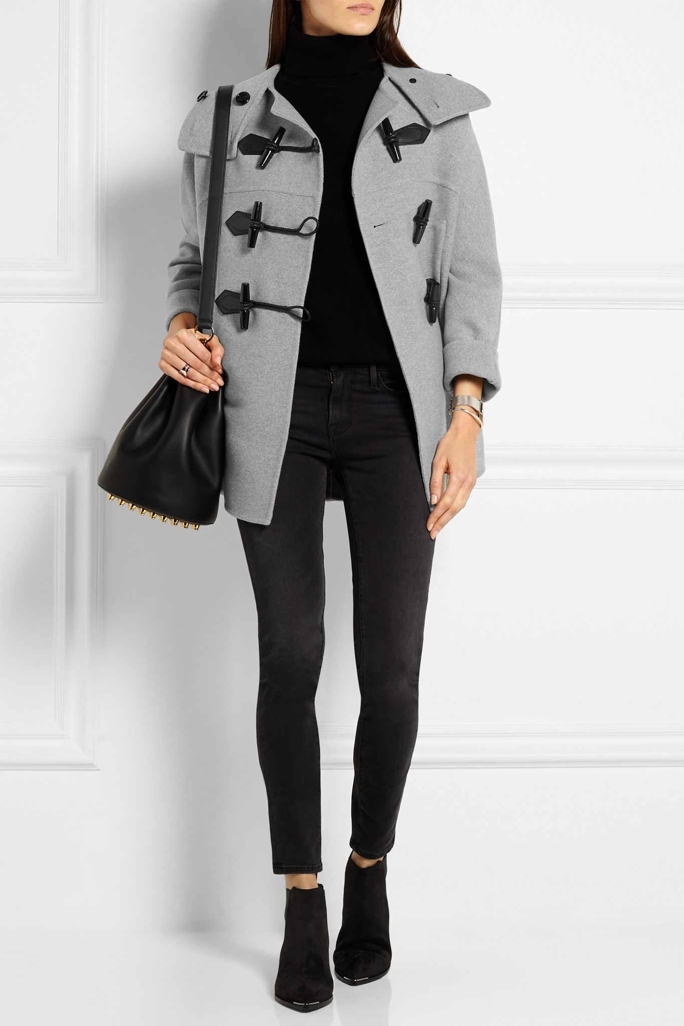 Burberry brit - Wool And Cashmere-blend Duffle Coat - Light Gray ...