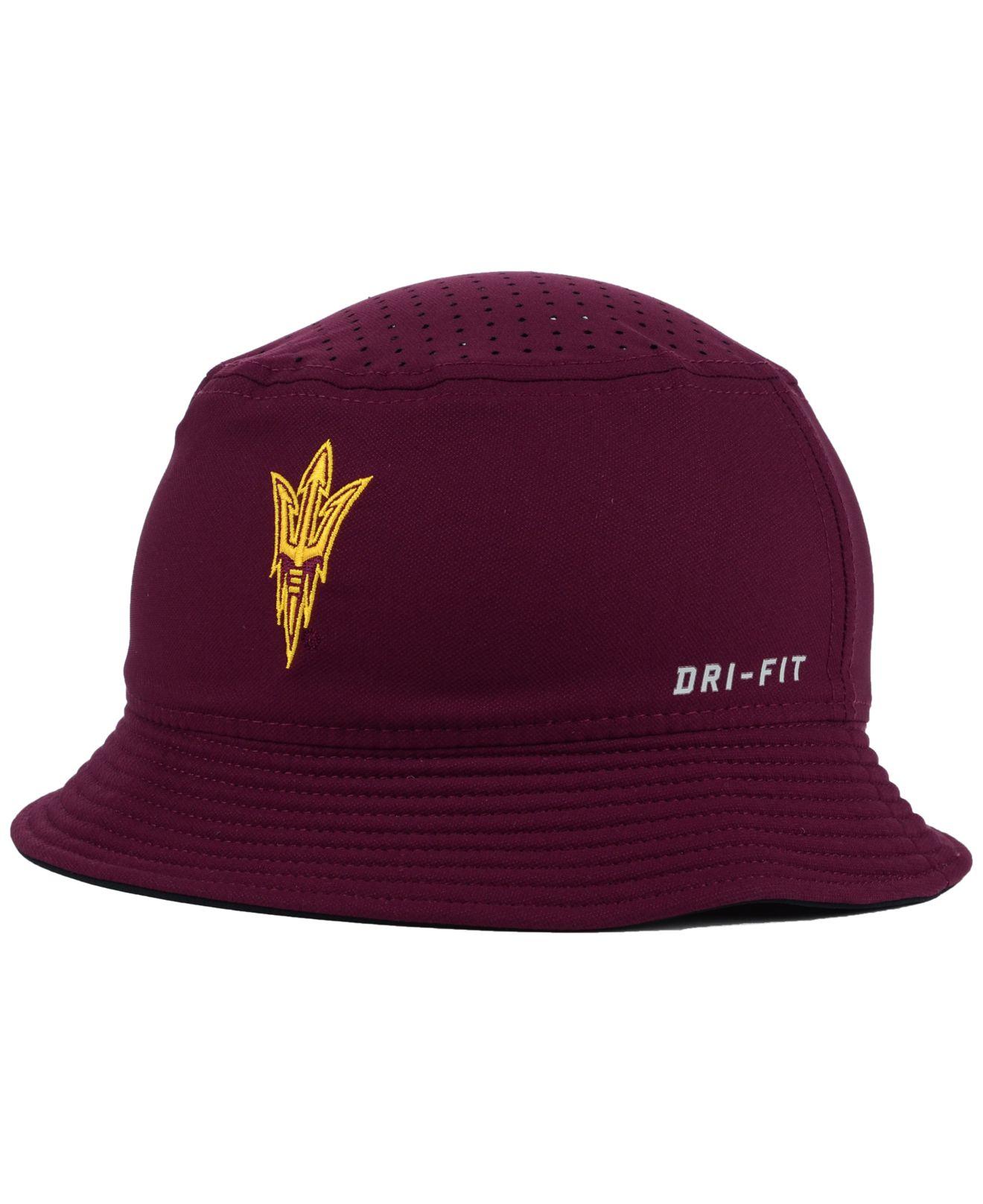 336b9e7d ... where can i buy lyst nike arizona state sun devils vapor bucket hat in  purple for