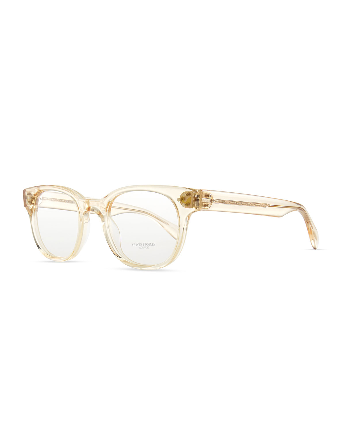 Oliver Peoples Afton Clear Fashion Glasses Buff For Men Lyst