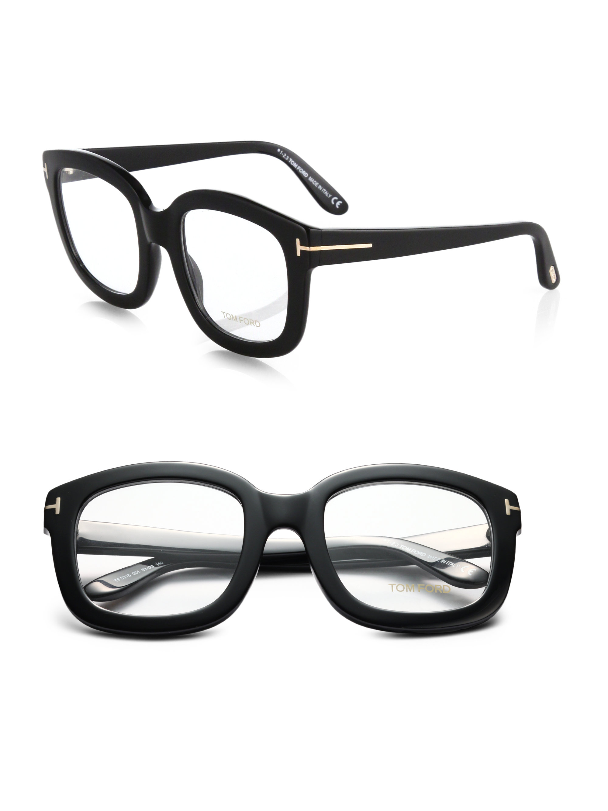 af669d59a8 Tom Ford Oversized Acetate Eye Glasses in Black - Lyst