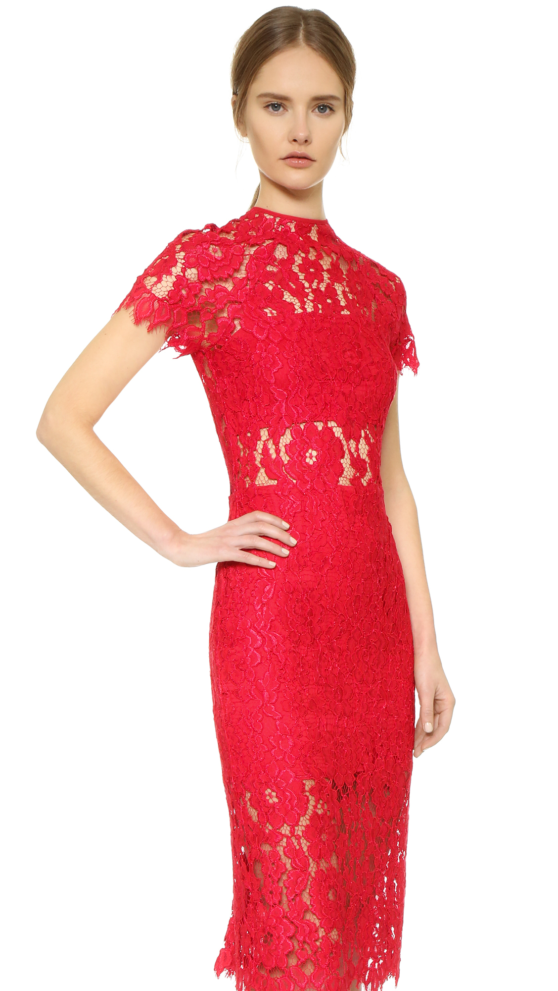 Alexis Leona Lace Dress - Red in Red | Lyst