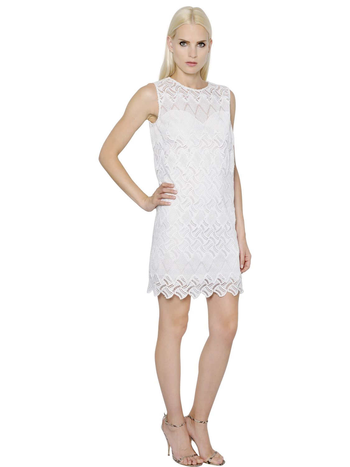 macrame dresses ermanno scervino lace macram 233 dress in white save 30 9251