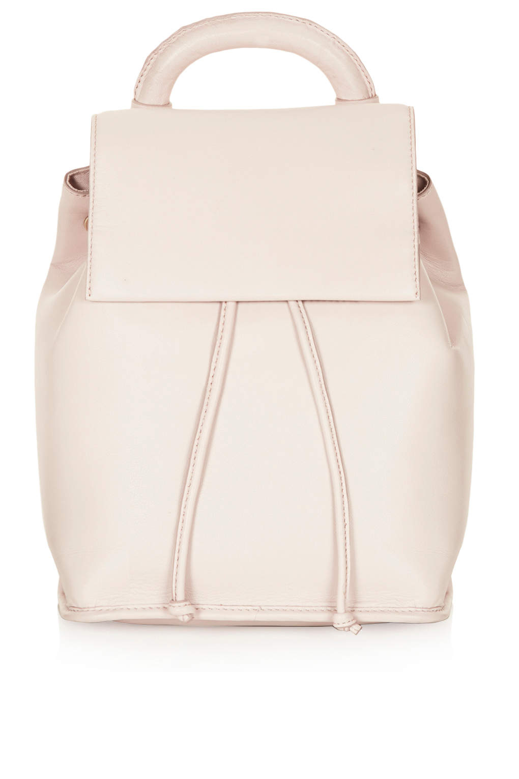 Topshop Premium Clean Leather Backpack in Pink | Lyst